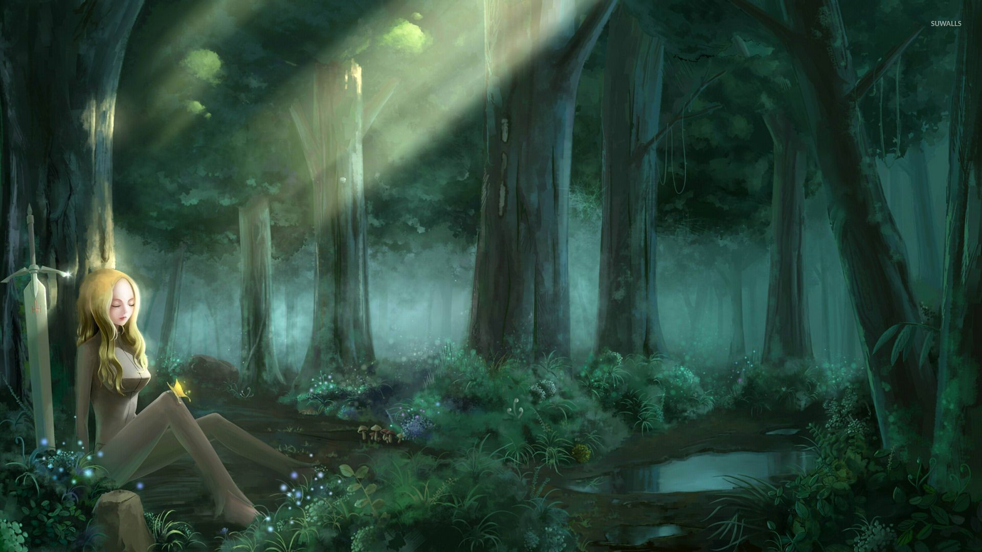 Clare in the forest – Claymore wallpaper