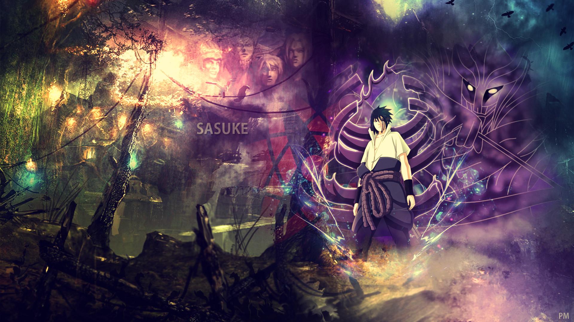 … [Wallpaper] – Sasuke Uchiha by attats