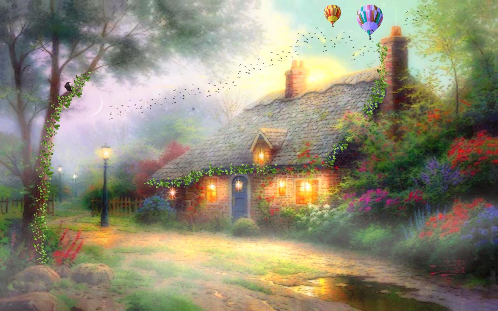 Fairy village / 1920 x 1200 / Fantasy / Photography | MIRIADNA.COM