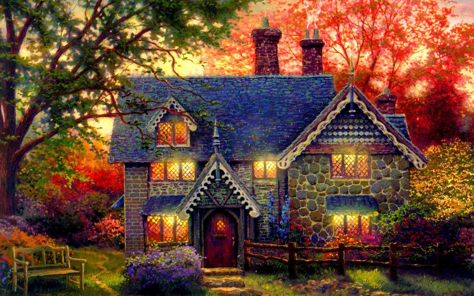 Free Download Cottage Wallpaper | PixelsTalk.Net