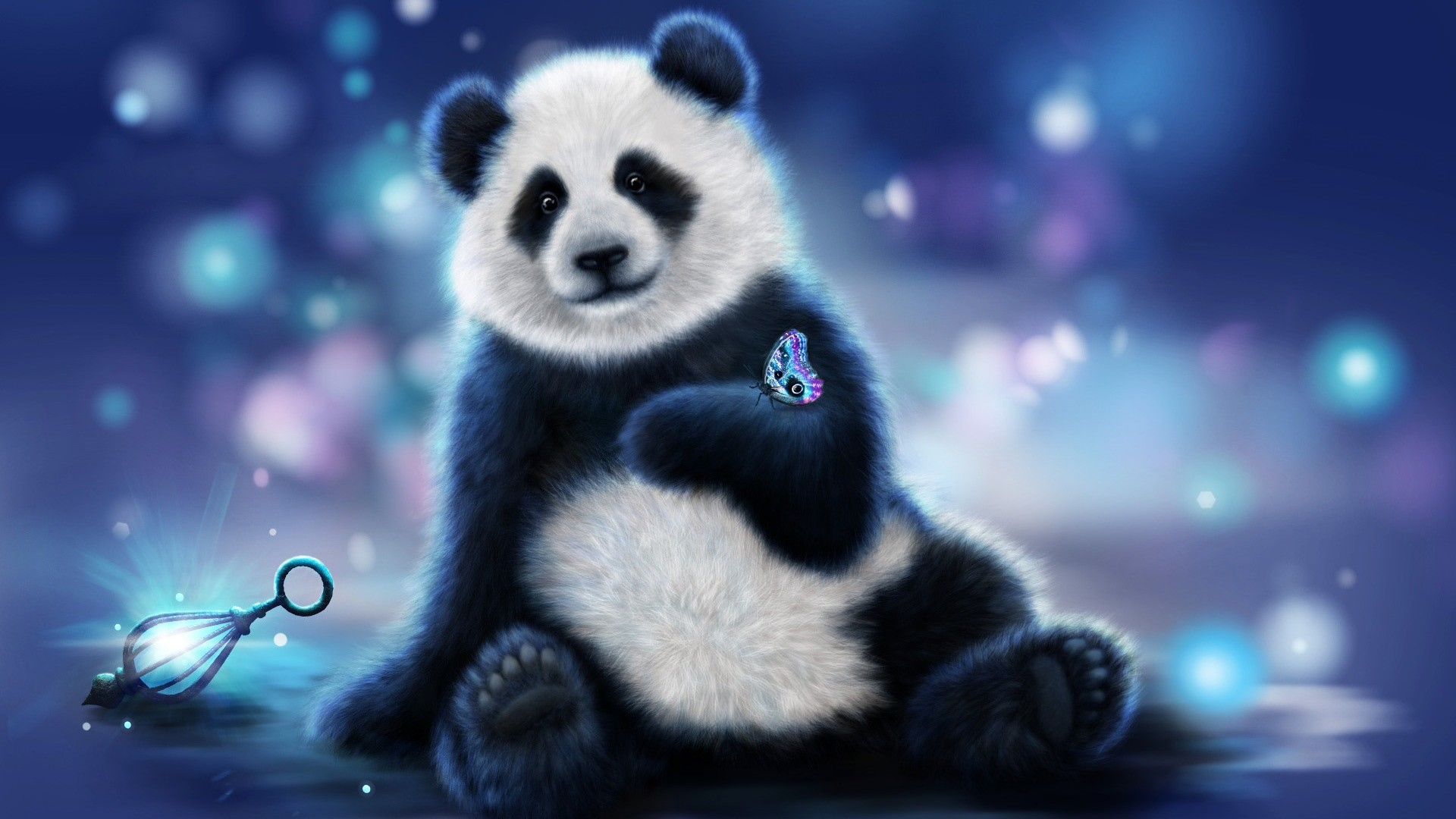 Lovable Panda Bear HD Wallpaper Free Download   New HD Wallpapers .