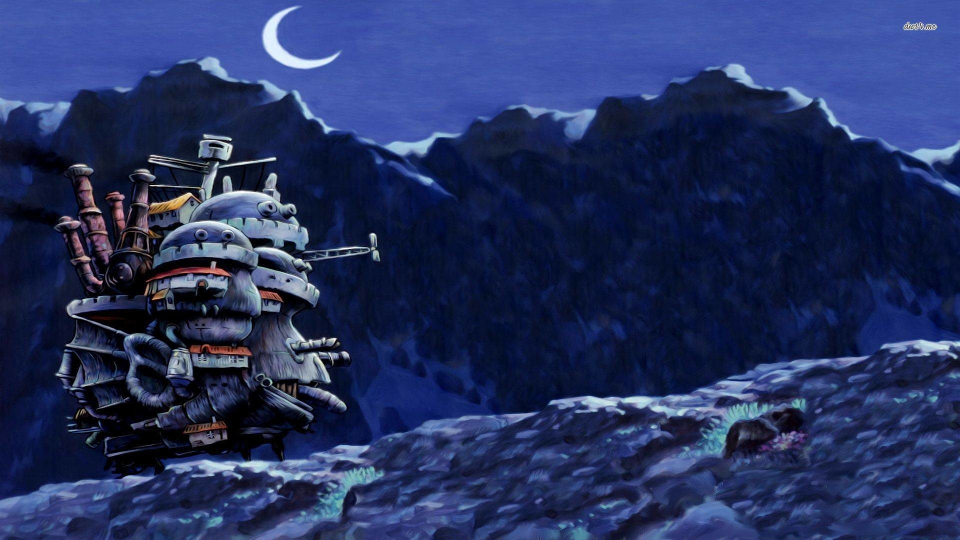Howl's Moving Castle – Studio Ghibli Wallpaper