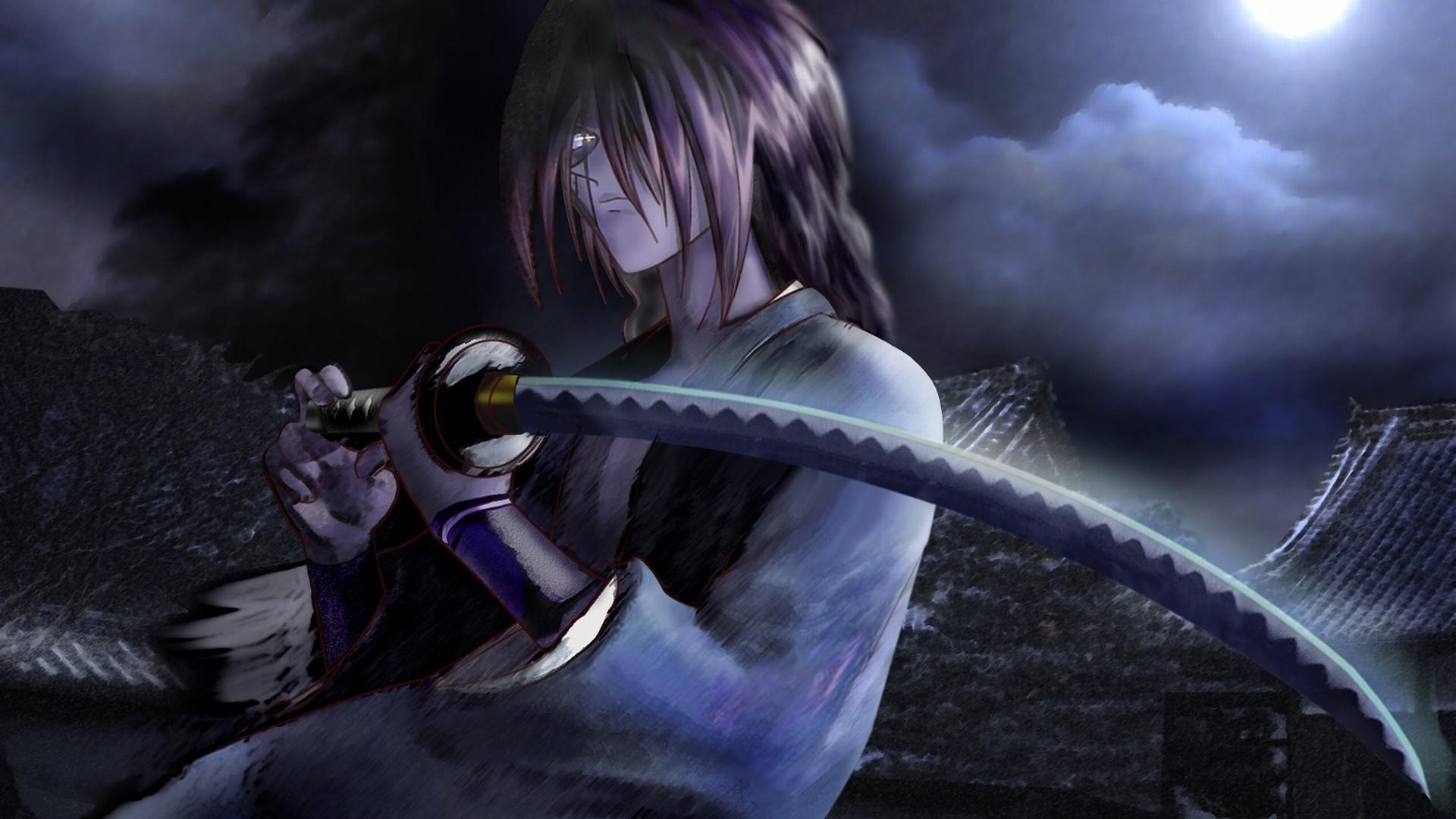 Rurouni Kenshin, Katana, Night, Himura Kenshin Wallpapers HD / Desktop and  Mobile Backgrounds
