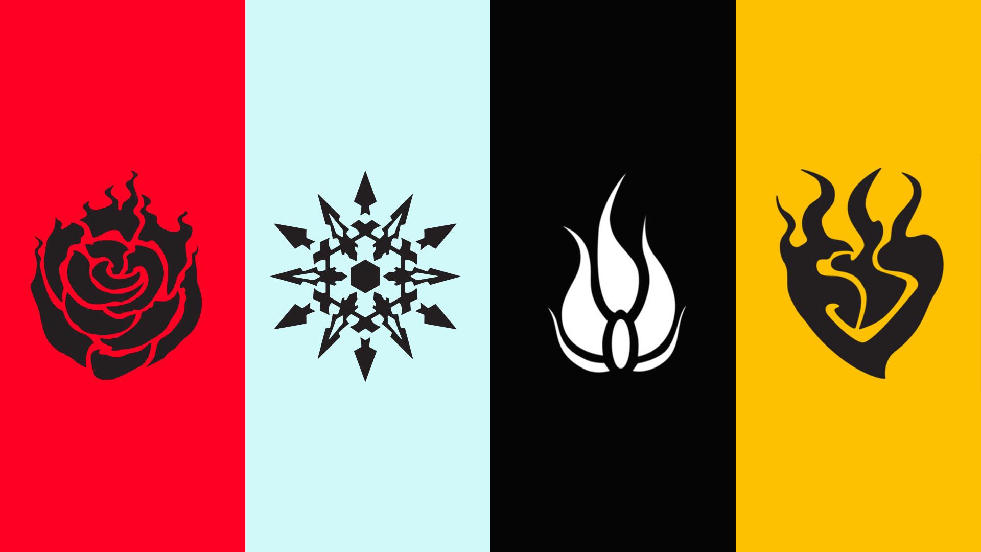 FAN ARTI made a minimalist RWBY emblem wallpaper!