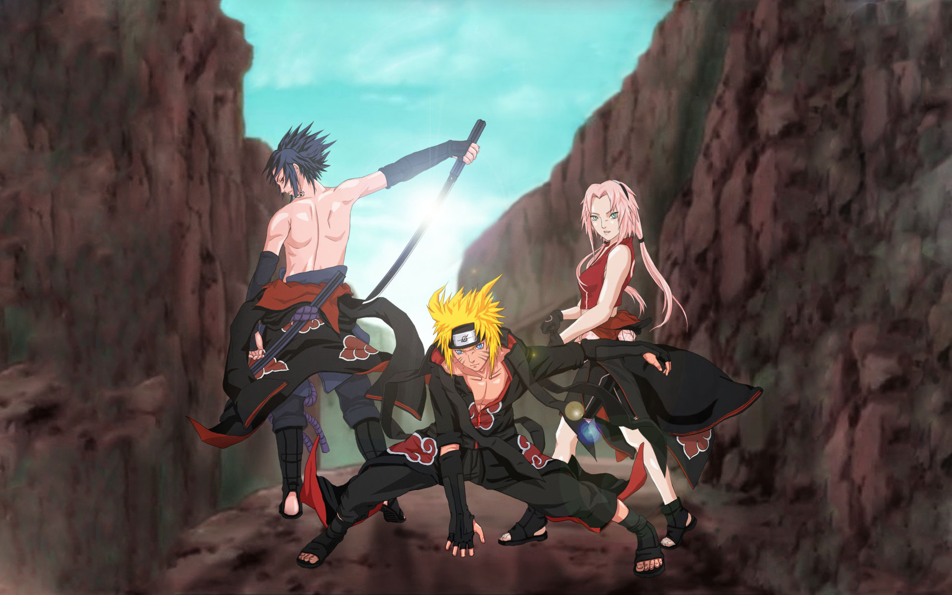 Anime – Naruto Sakura Haruno Naruto Uzumaki Sasuke Uchiha Wallpaper