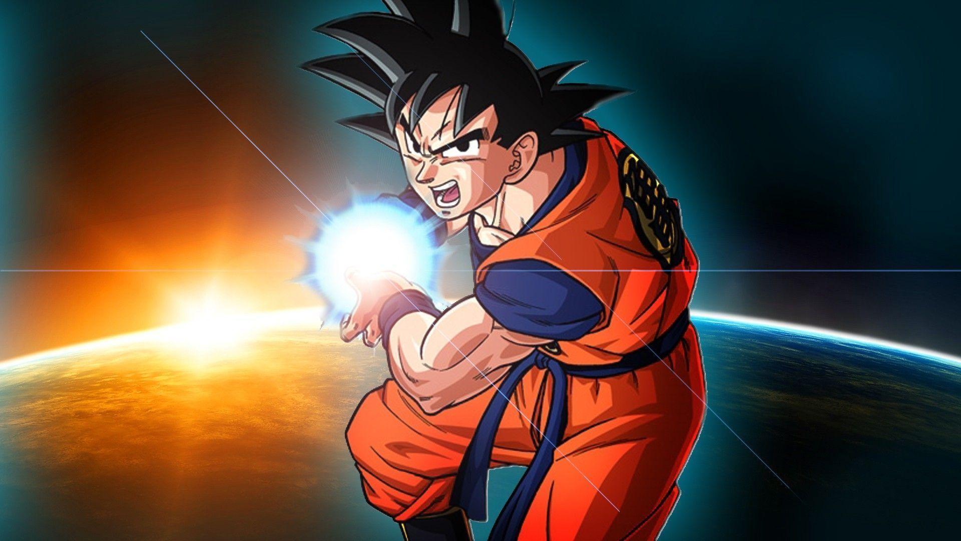 Goku Kamehameha Dragon Ball Z Wallpaper   warnerboutique