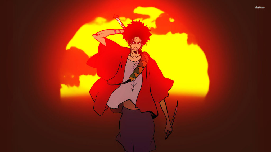 Mugen Samurai Champloo. Samurai Champloo Battle Shadow Jin Mugen wallpaper
