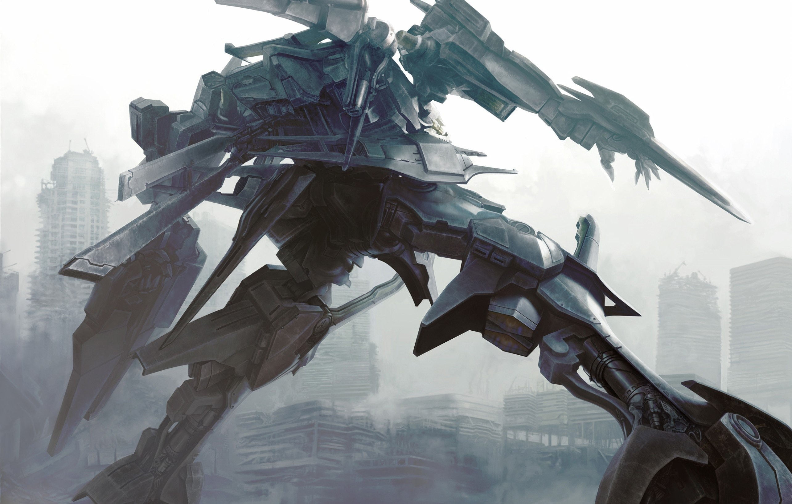 Anime Armored Core Artwork Fantasy Art Mecha Robots