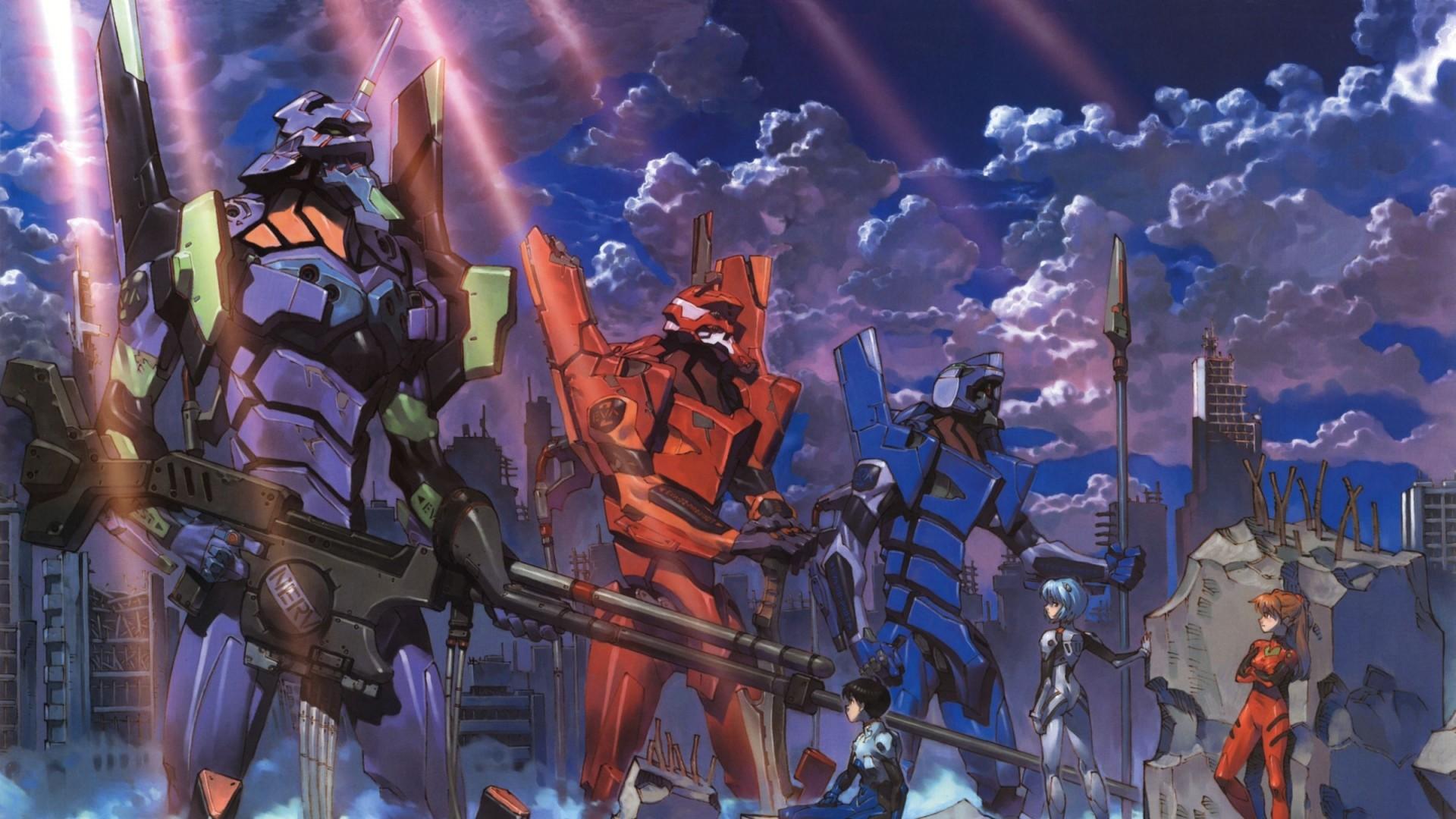 Wallpaper eva, robots, anime, evangelion