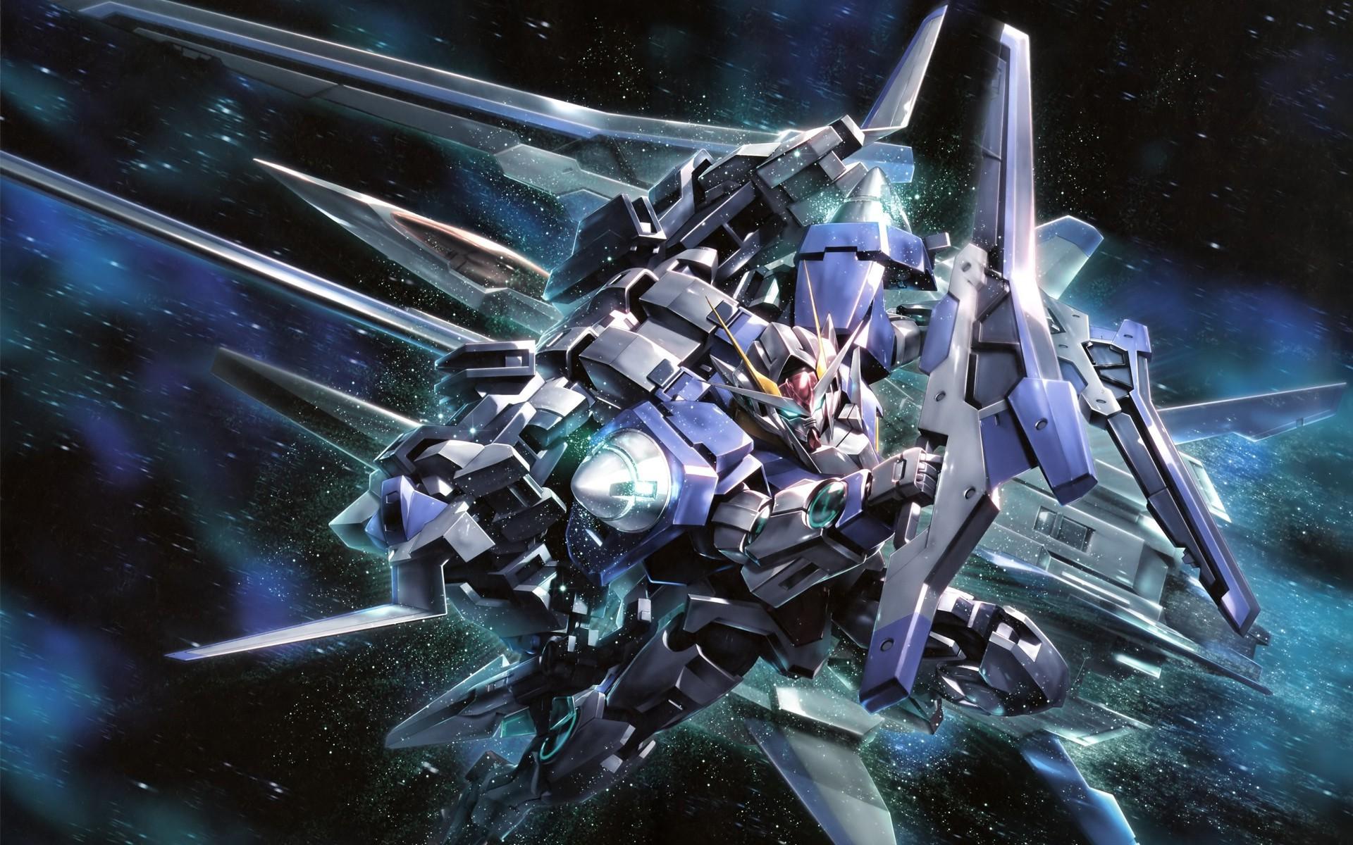 Mobile Suit Gundam 00, Anime, Space, Gundam, Mech, Robot Wallpapers HD /  Desktop and Mobile Backgrounds