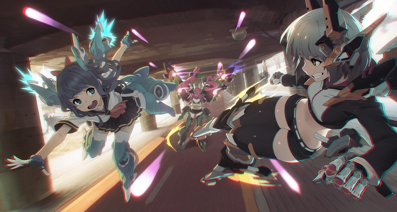 Tags: Anime, Ladic, Mecha Musume, Dynamic, Original, Wallpaper