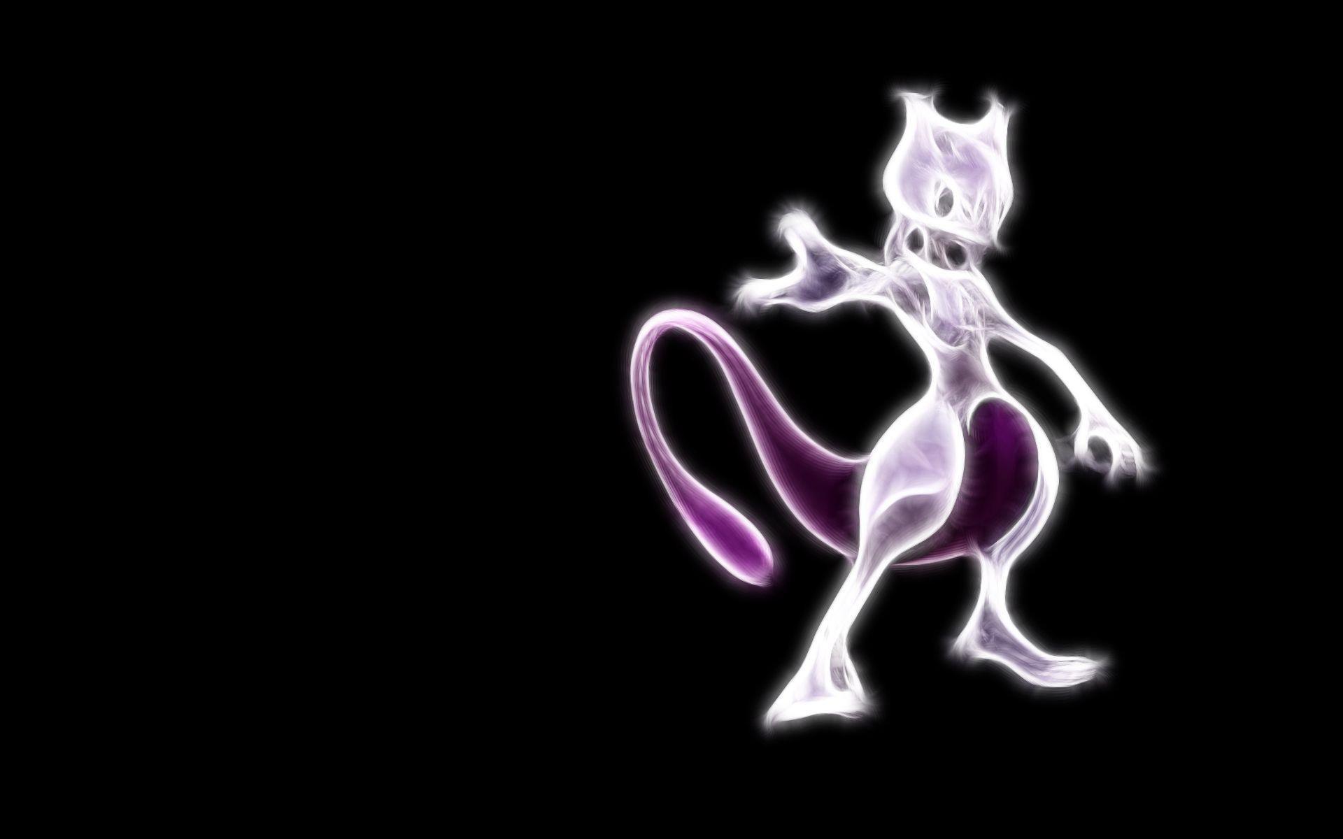 Pokemon Mewtwo Neon Wallpaper