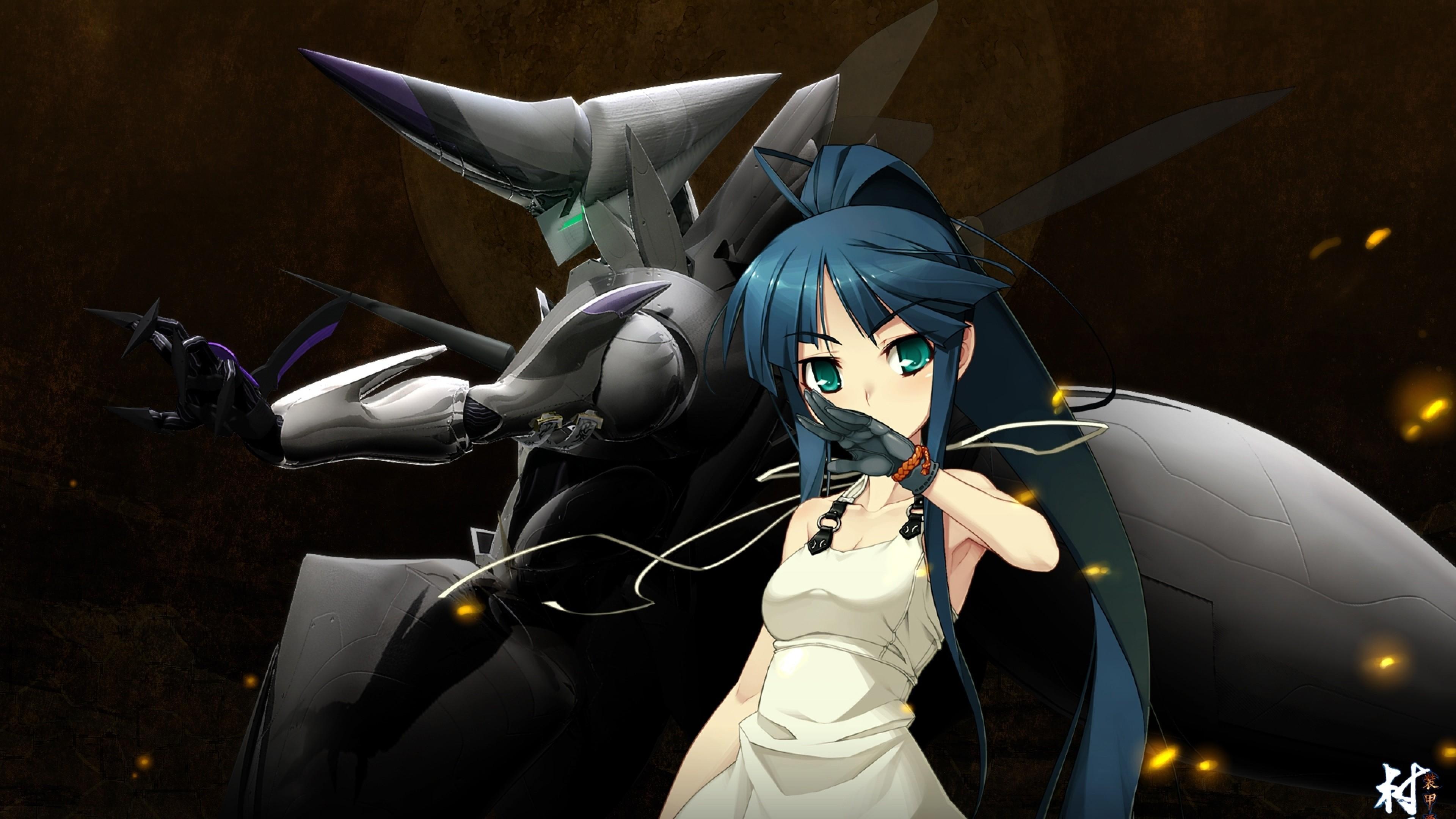 Wallpaper nitroplus, full metal daemon muramasa, minato hikaru,  girl, robot,