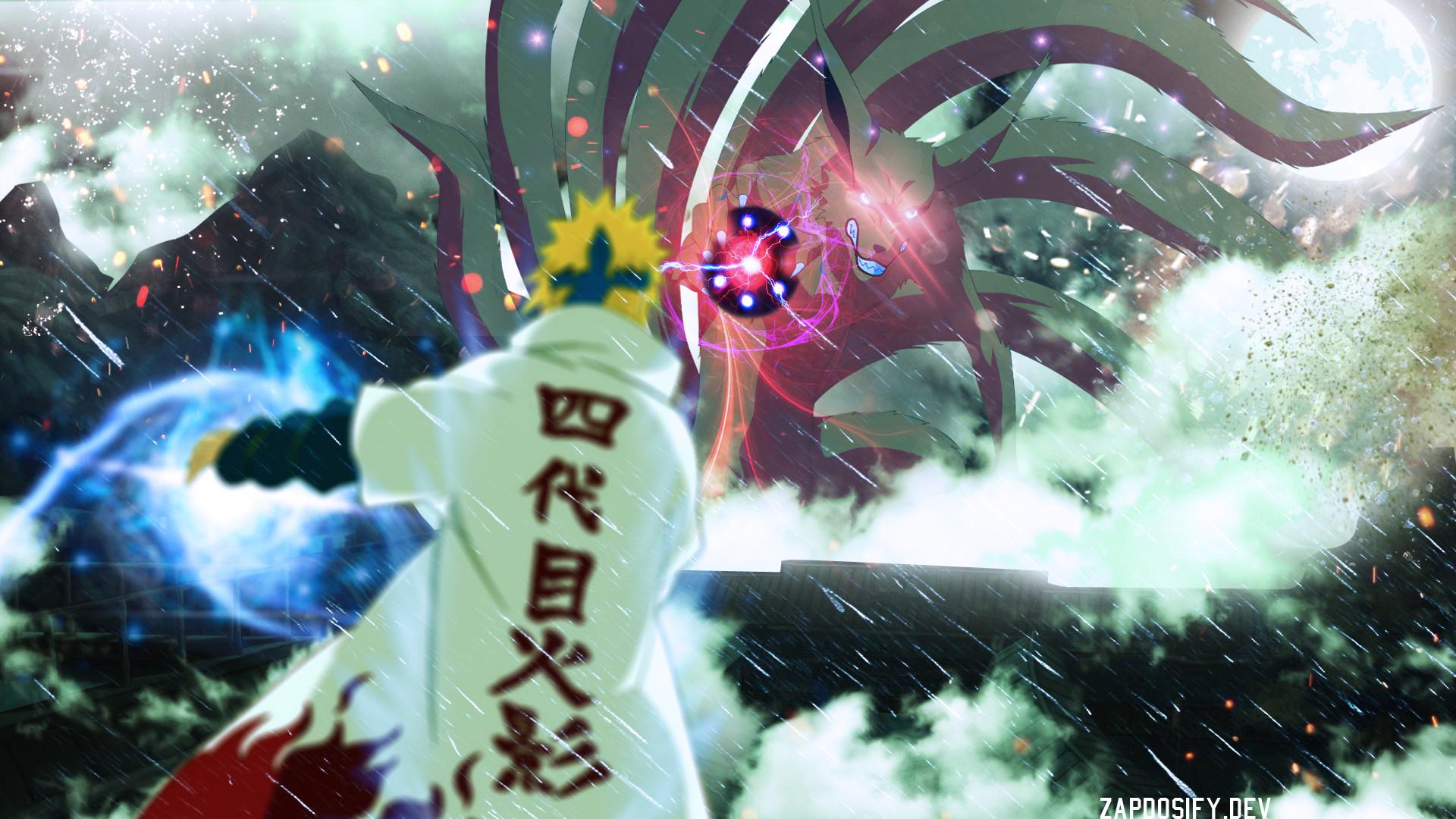 Tags: Anime, NARUTO, Kyuubi (NARUTO), Namikaze Minato, Rasengan,