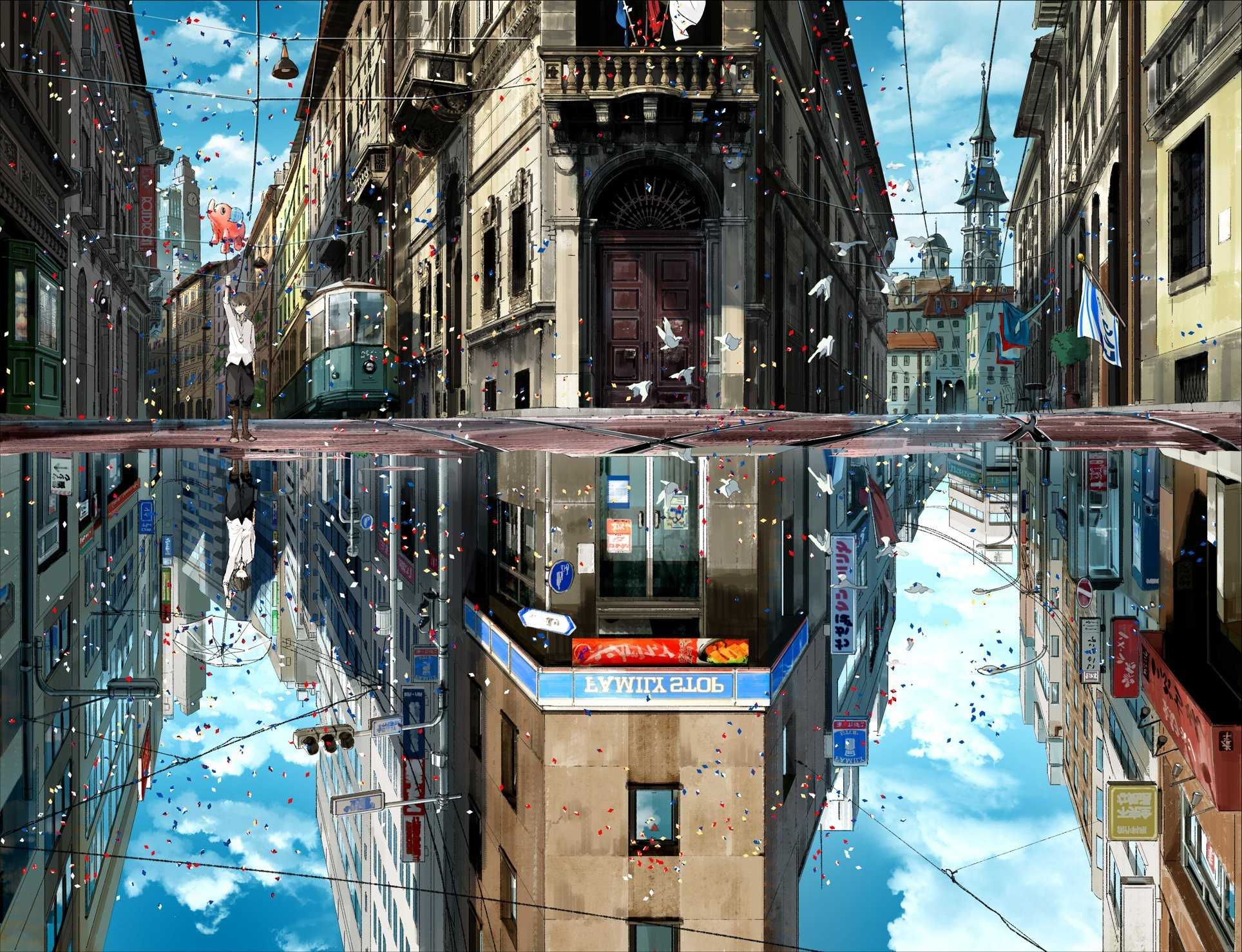 Image result for anime city scenery wallpaper