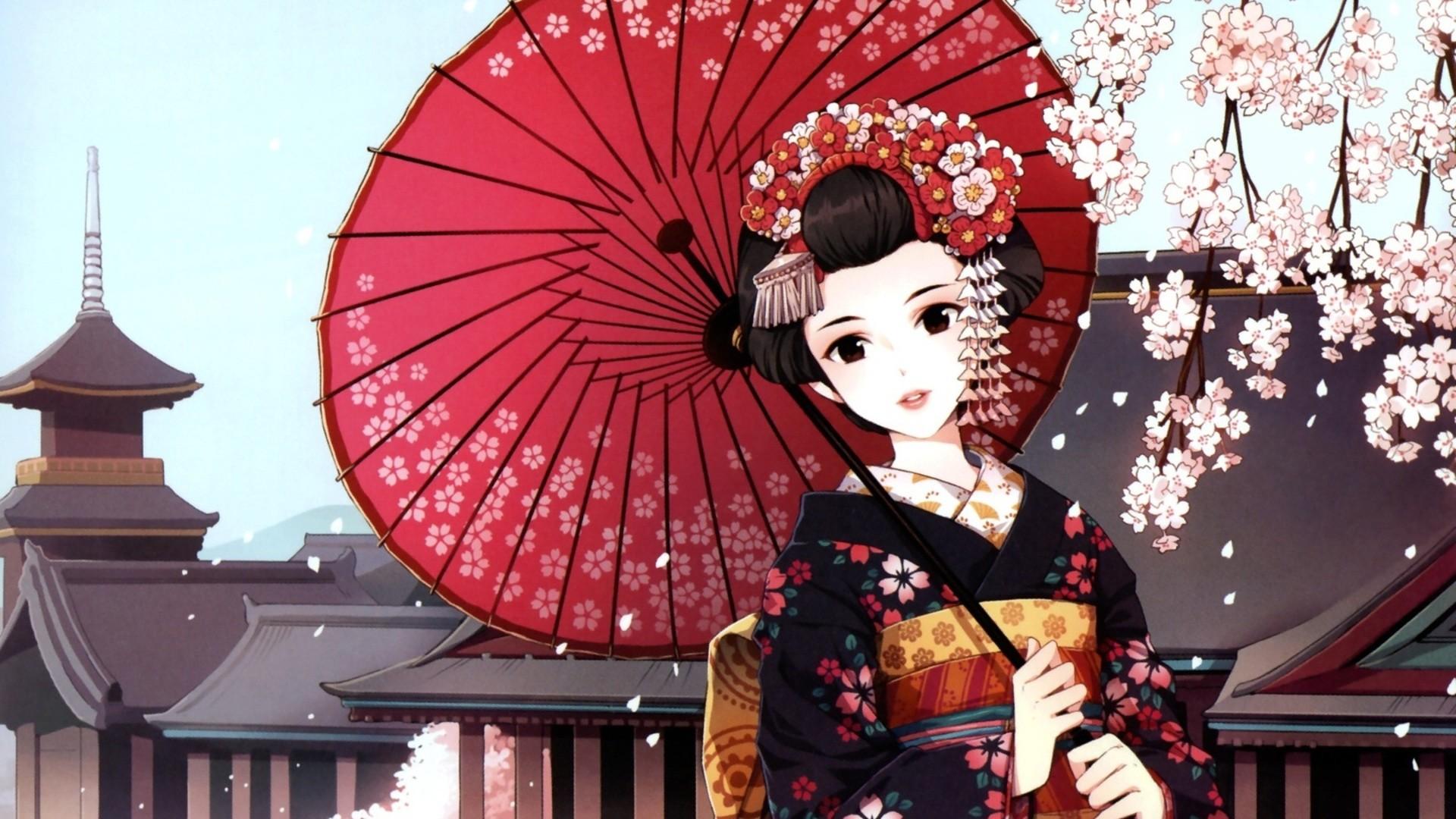 Japanese Geisha Art Wallpaper #20567 Wallpaper   Wallpaper hd