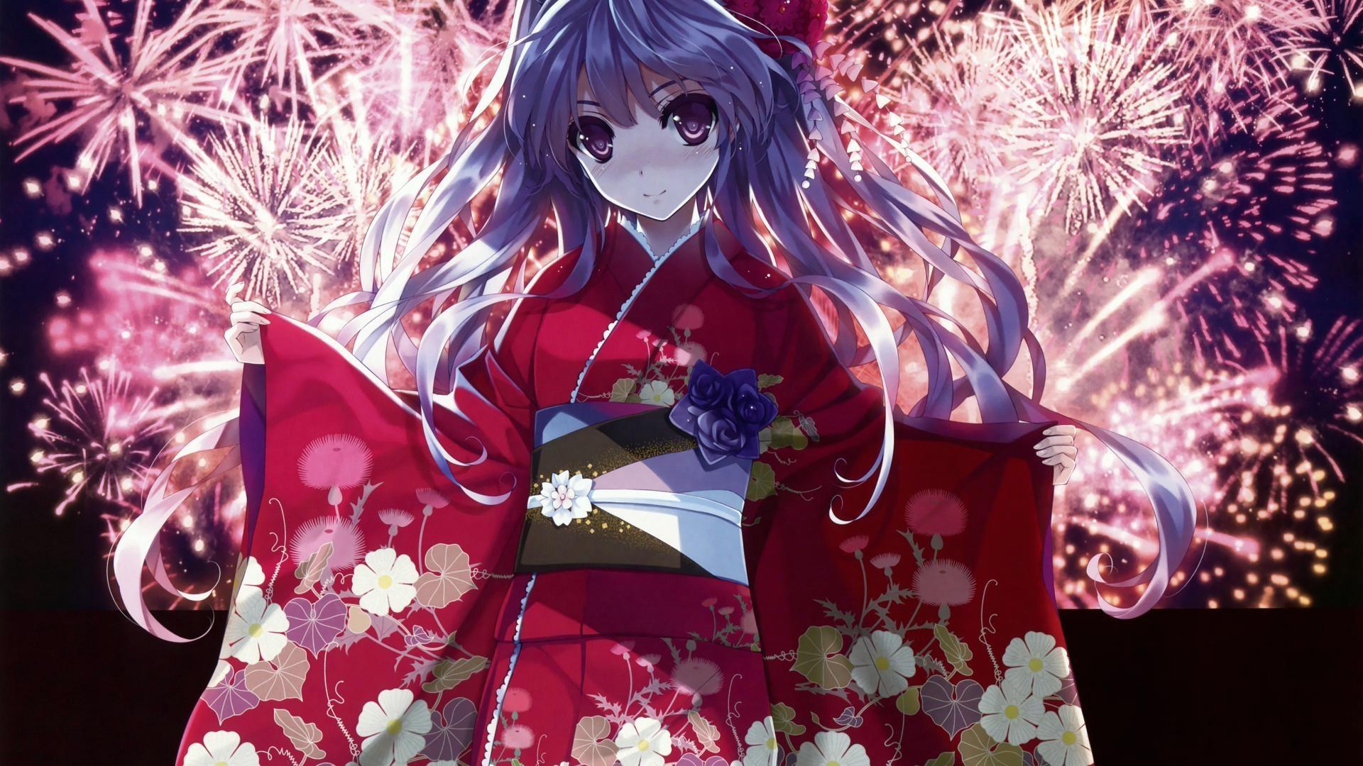 Wallpaper cute girl anime