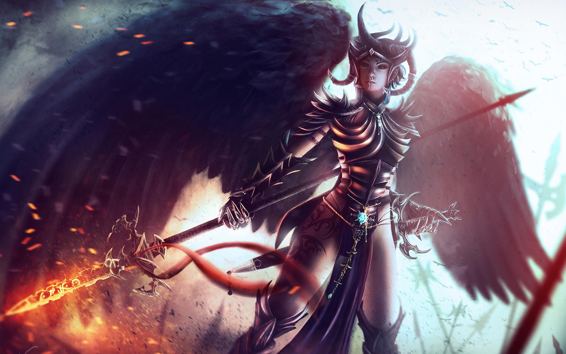 Anime Girl Angel Wallpaper | HD Desktop Wallpapers | Pinterest | Angel  wallpaper