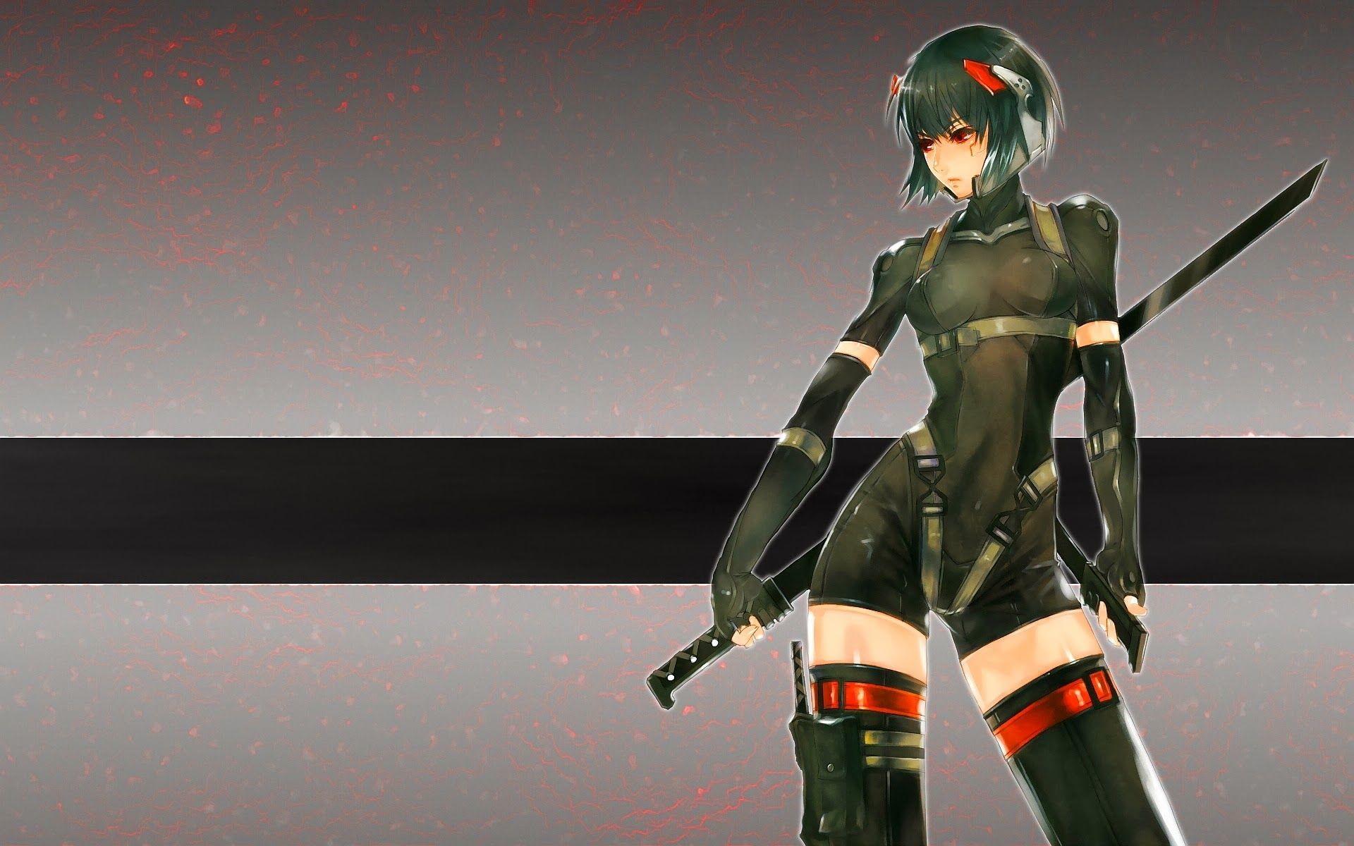 Best Anime Girl Warrior Wallpaper Hd