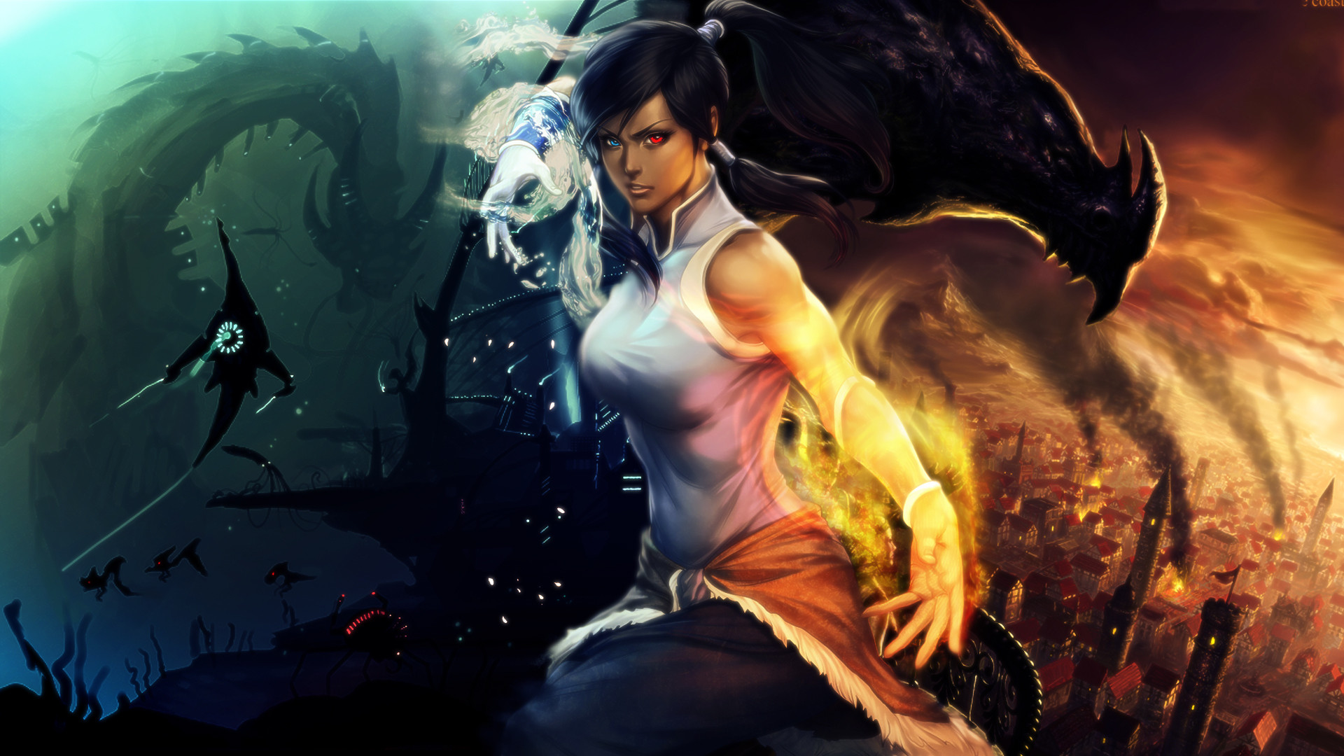 Avatar The Legend of Korra Magic Warrior Singlet Anime Girls Fantasy sci-fi  dragon wallpaper | | 166314 | WallpaperUP
