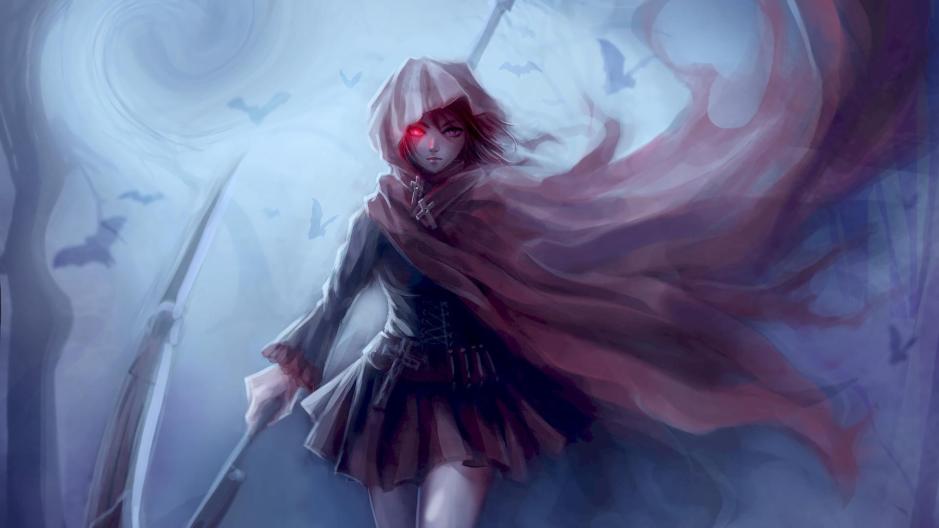 Anime – RWBY Ruby Rose (RWBY) Fantasy Woman Girl Anime Warrior Wallpaper