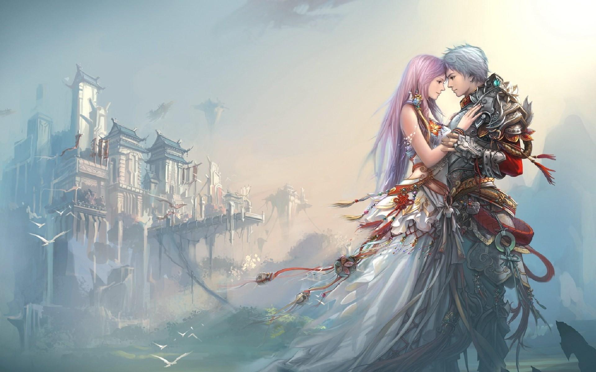 anime-boy-girl-love-castle-wallpaper-1920×1200.jpg (1920×1200) | Love |  Pinterest | Anime, Desktop backgrounds and Fantasy art