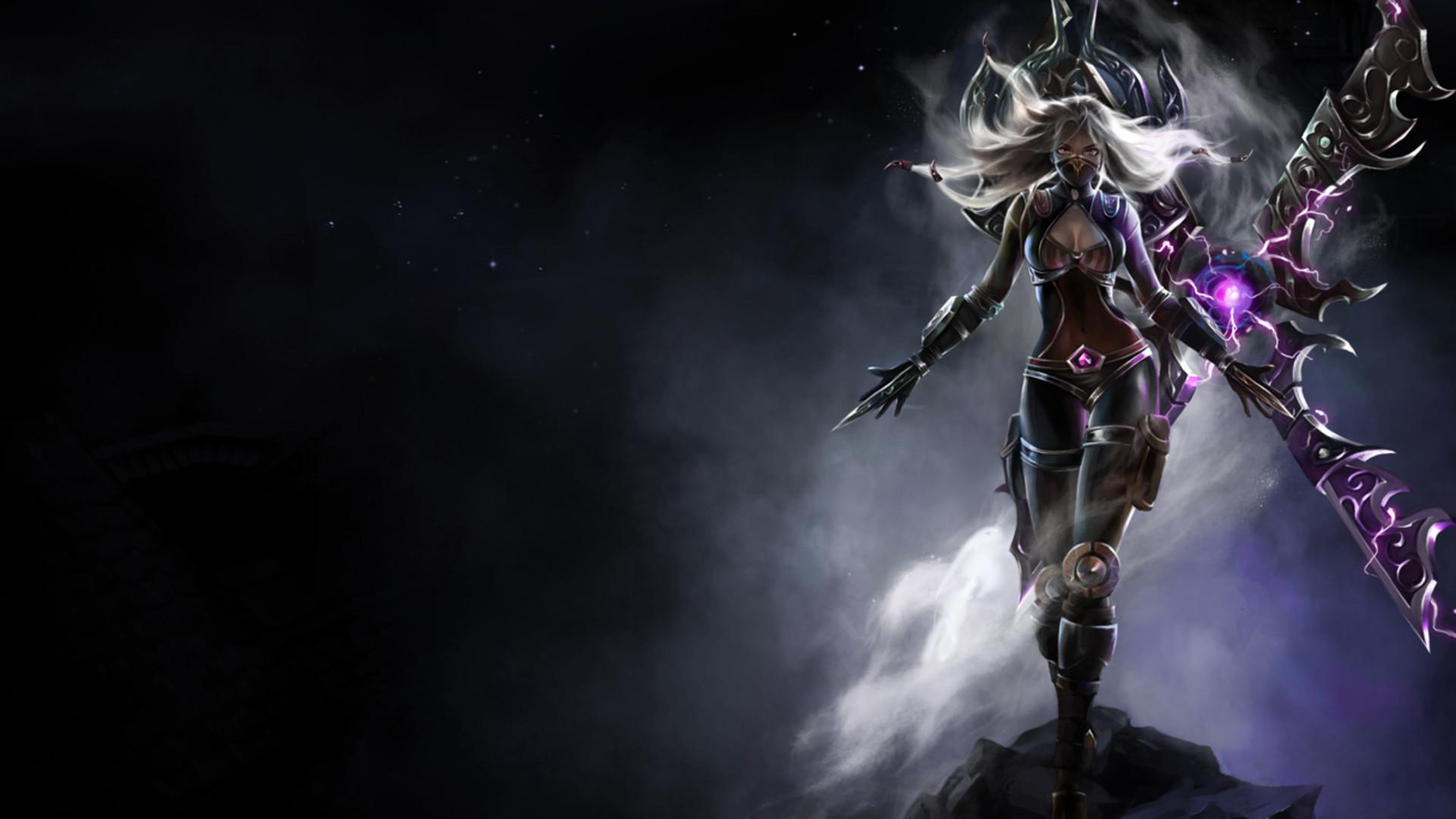 Dark Purple fantasy female warrior wallpaper from Warriors wallpapers