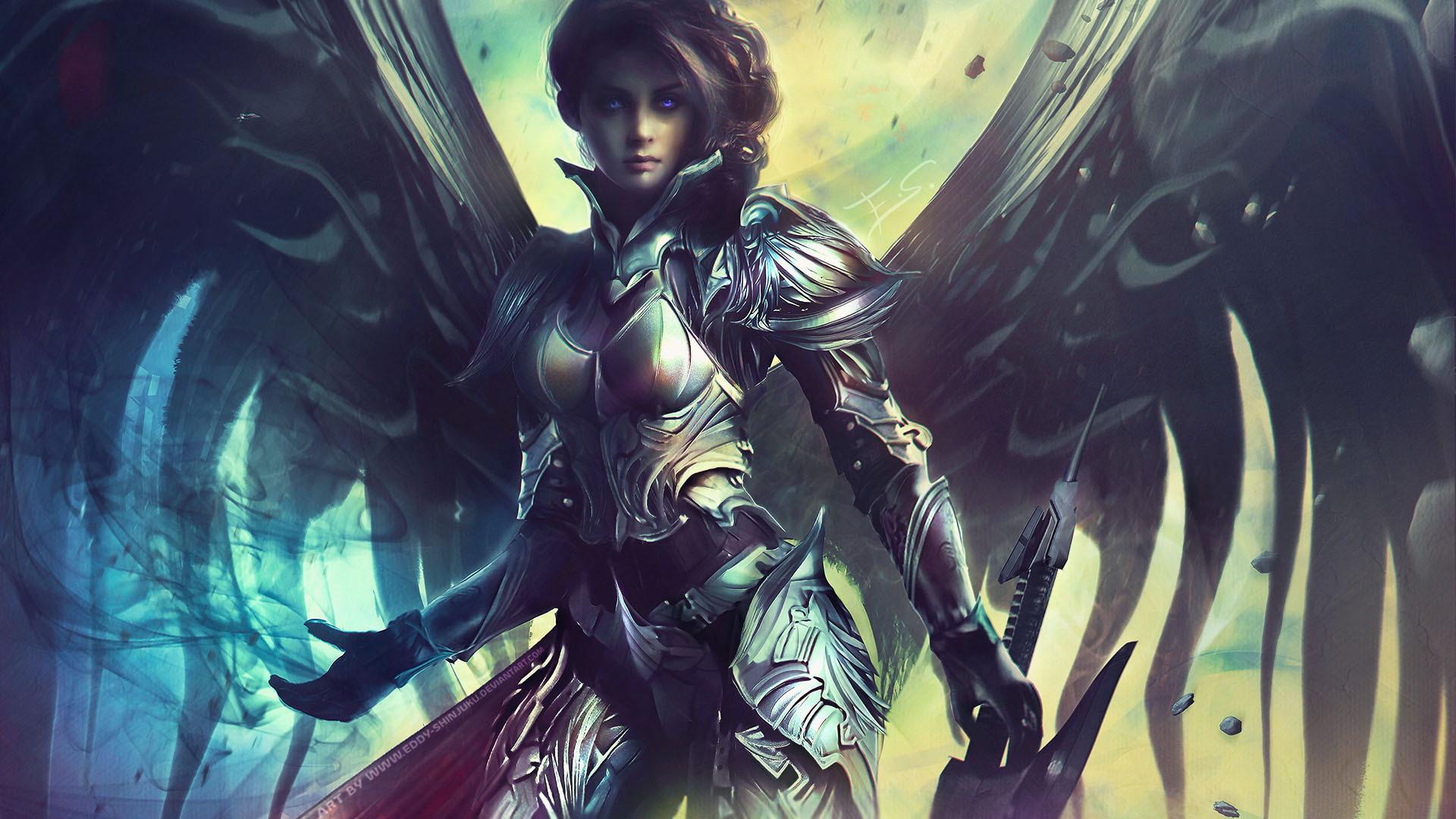 Dark Angel Female Warrior wallpaper from Warriors wallpapers