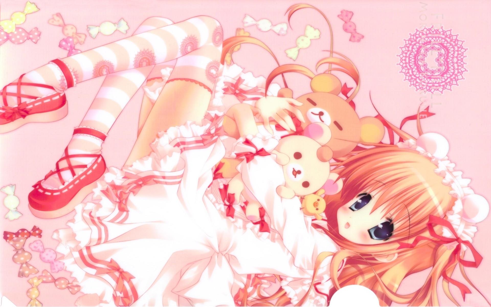 Desktop hd pink kawaii background wallpapers HD.