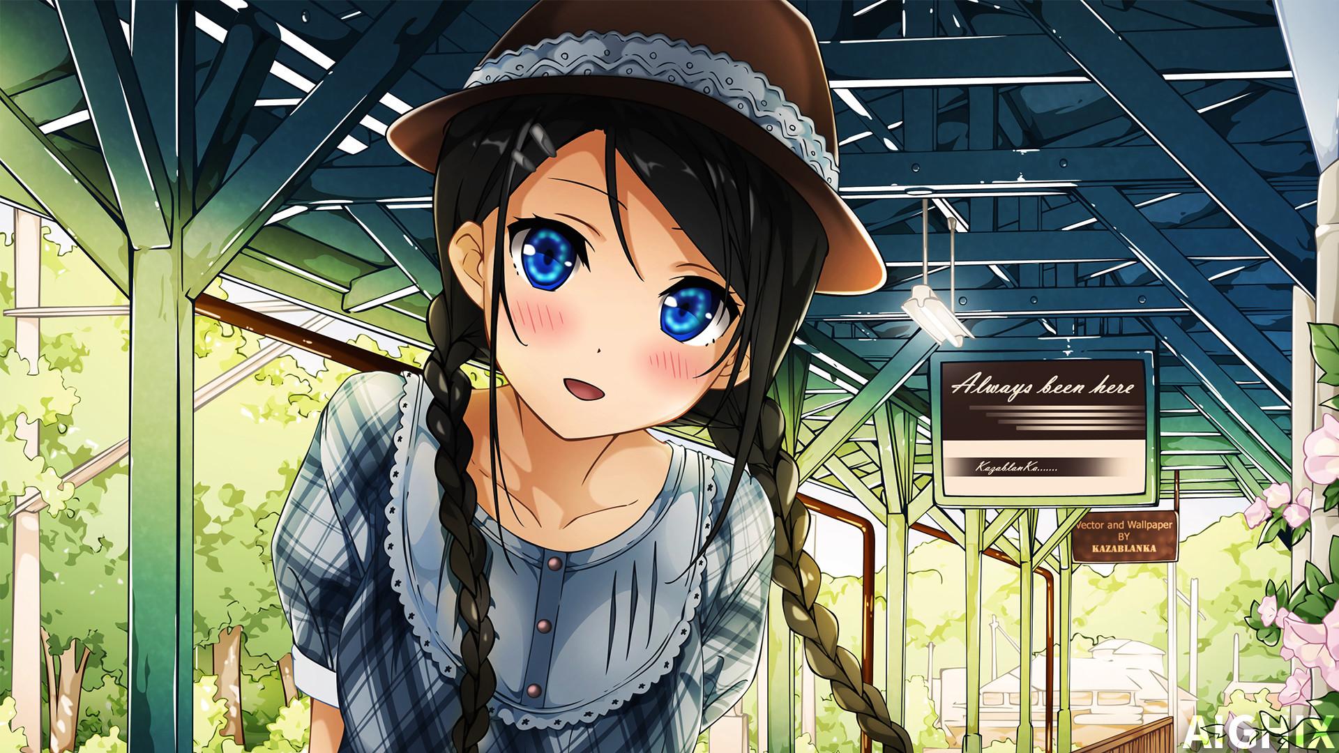 Kawaii Anime Girl Wallpaper by AIGHIX Kawaii Anime Girl Wallpaper by AIGHIX