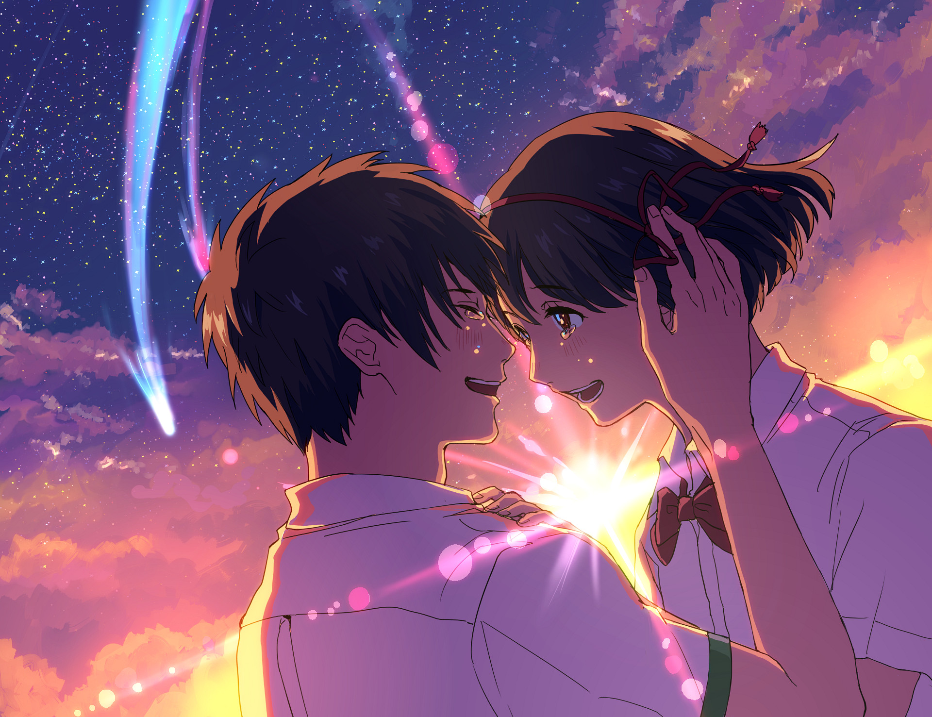 Anime Your Name. Mitsuha Miyamizu Taki Tachibana Kimi No Na Wa. Fondo de  Pantalla. Kawaii CuteKawaii AnimeWallpaper …