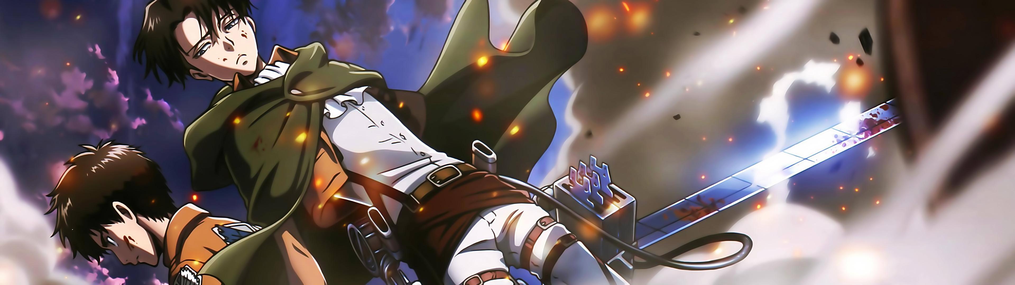 Anime – Attack On Titan Eren Yeager Levi Ackerman Wallpaper