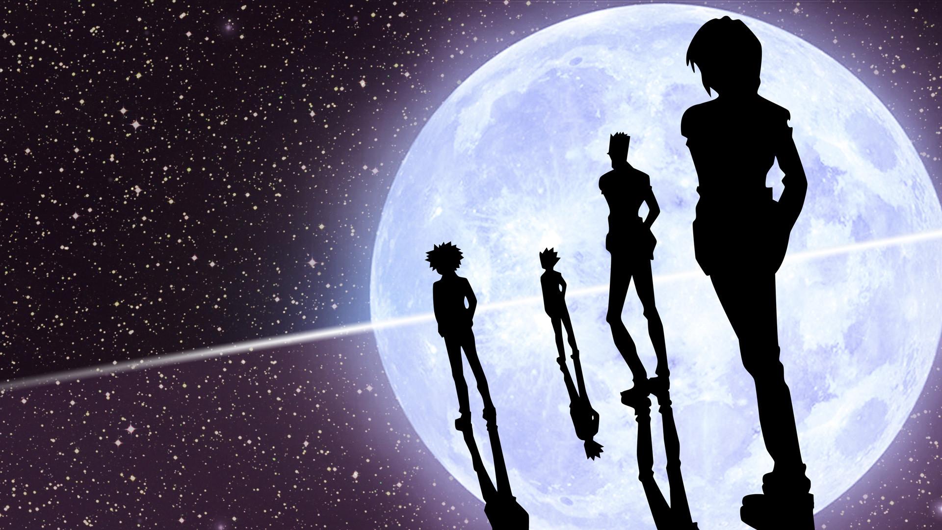 Gon, Killua, Leorio and Kurapika.