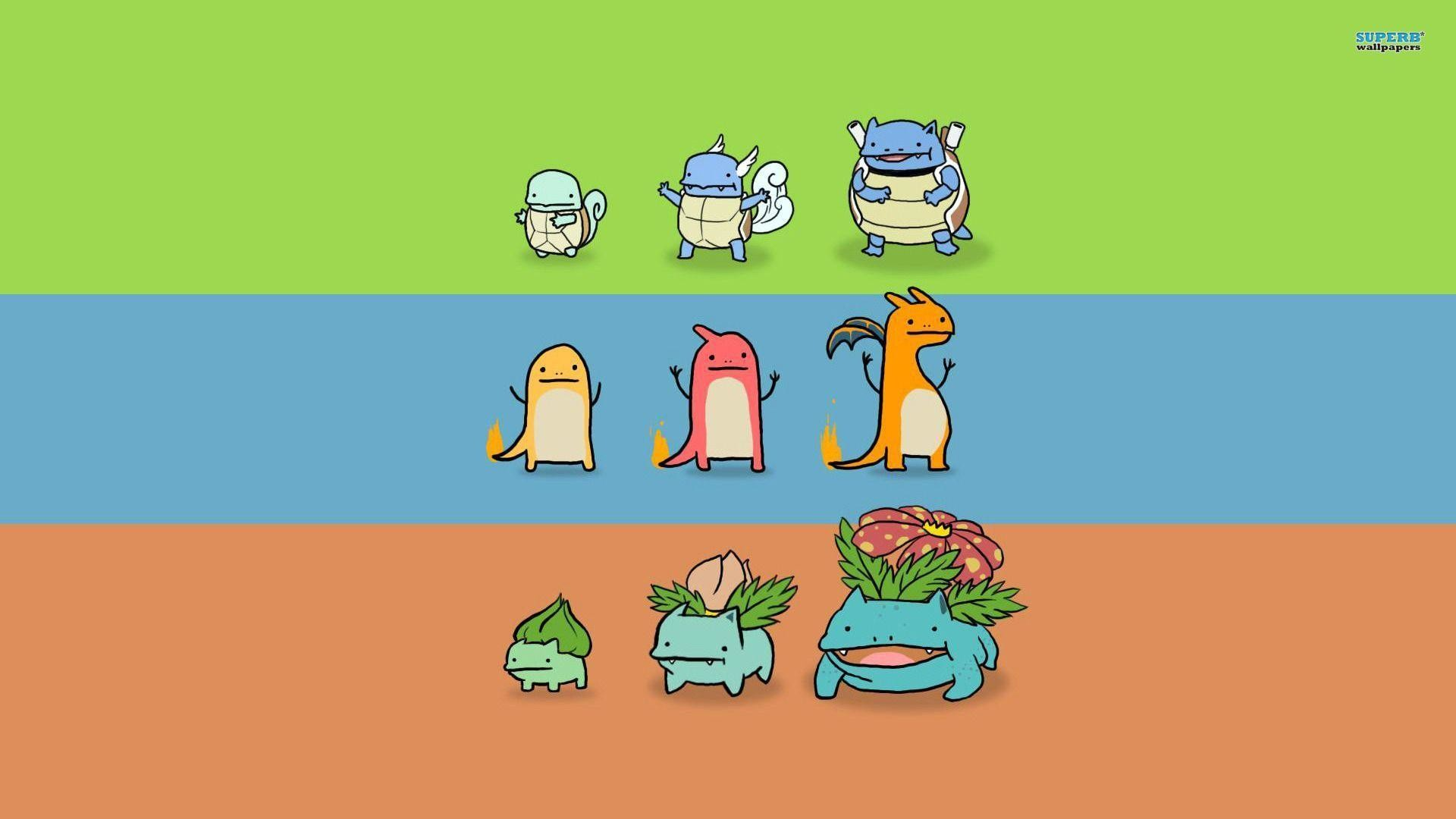 Pokemon evolution wallpaper – Minimalistic wallpapers – #