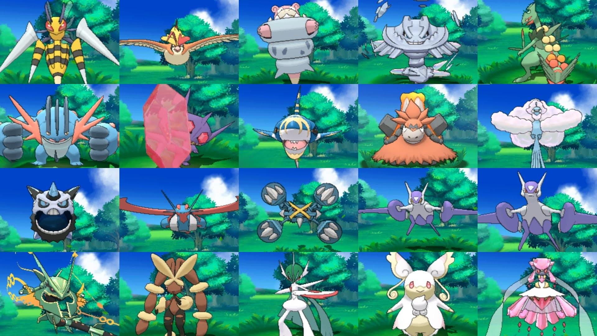 Alle Mega-Entwicklungen (All Mega-Evolutions) – Pokemon Omega Rubin & Alpha  Saphir – YouTube
