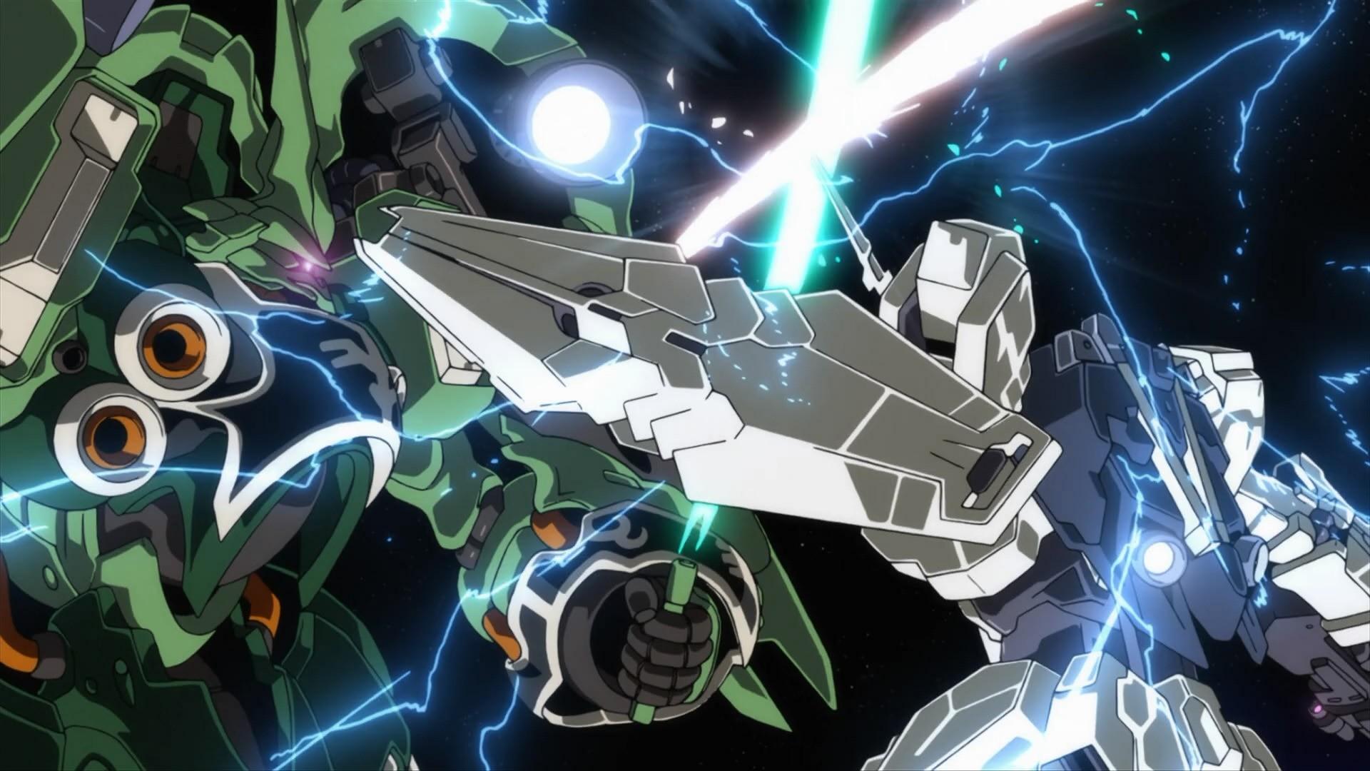 Kshatriya Versus Gundam Unicorn Wallpaper Wallpaper