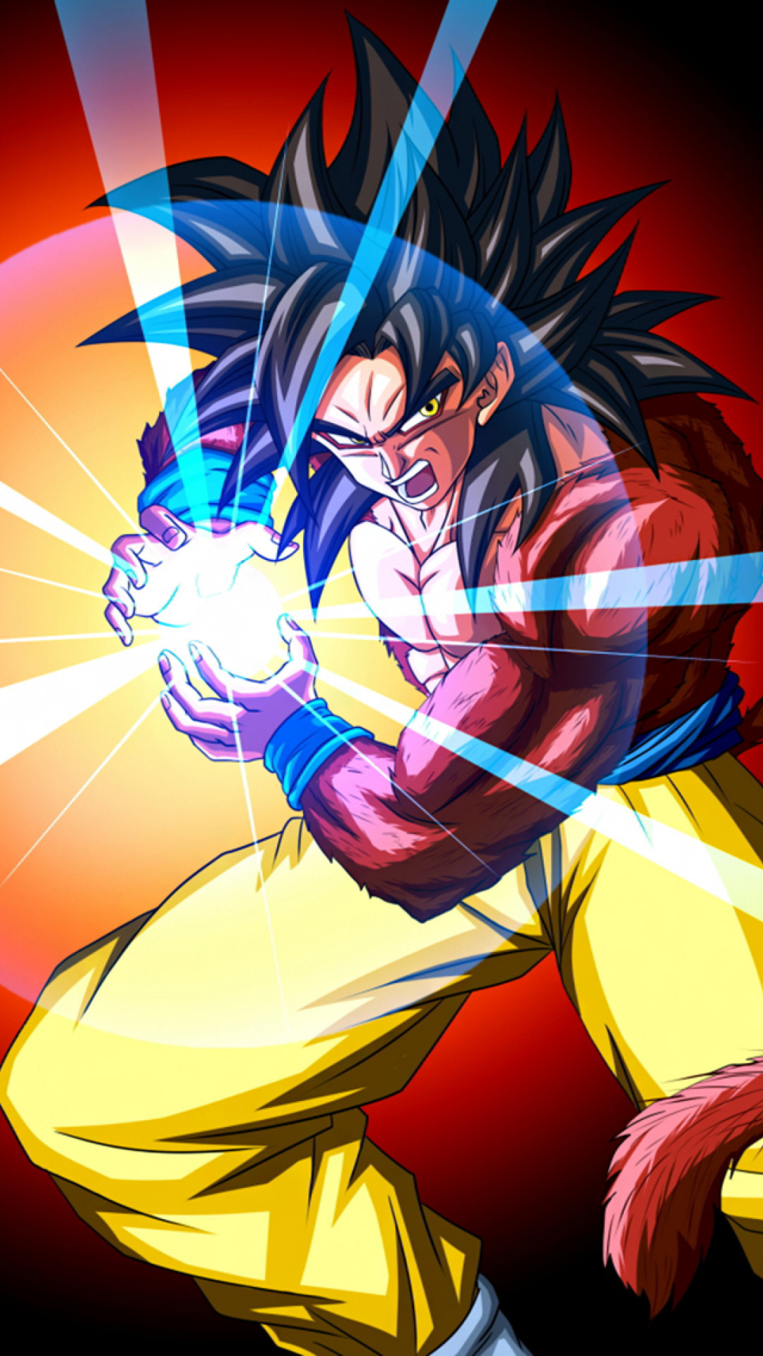 Super Saiyan 4 Son Goku. Press the download button to save, or: Desktop  users – Right click to save or set as desktop background