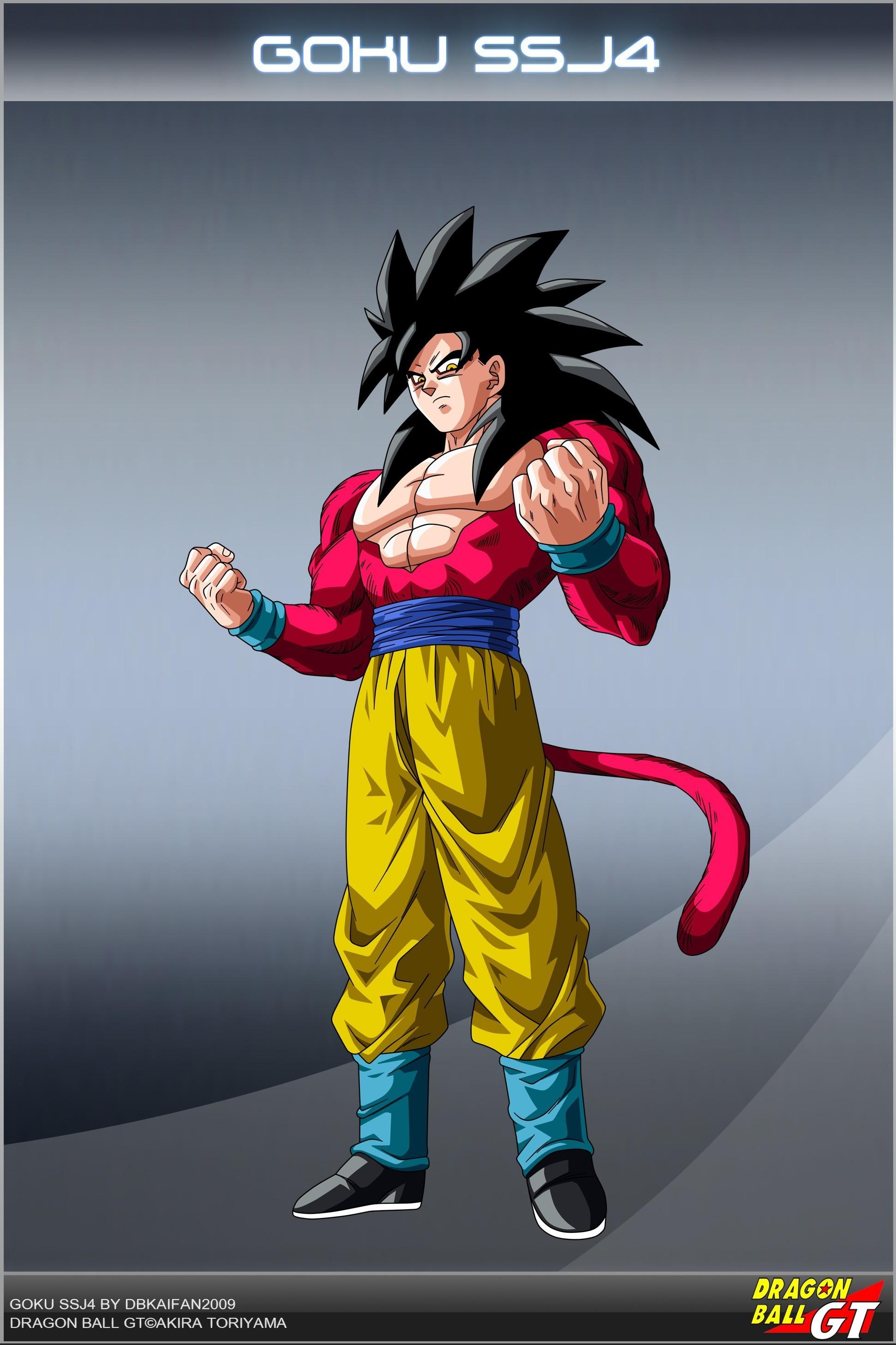 Anime Dragon Ball Son Goku Super Saiyan anime Super Saiyan 4  Dragon Ball GT anime