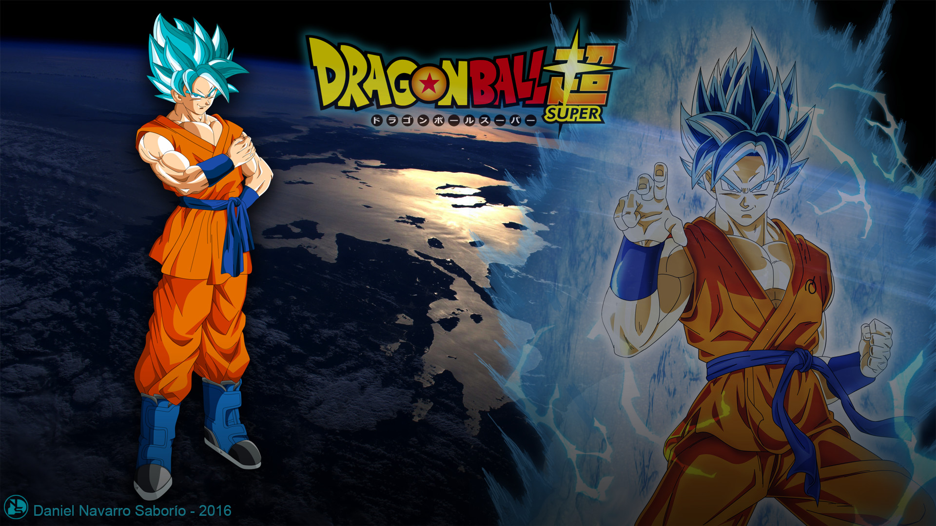 … Goku Super Saiyan Dios Azul – Wallpaper by DanielNS116