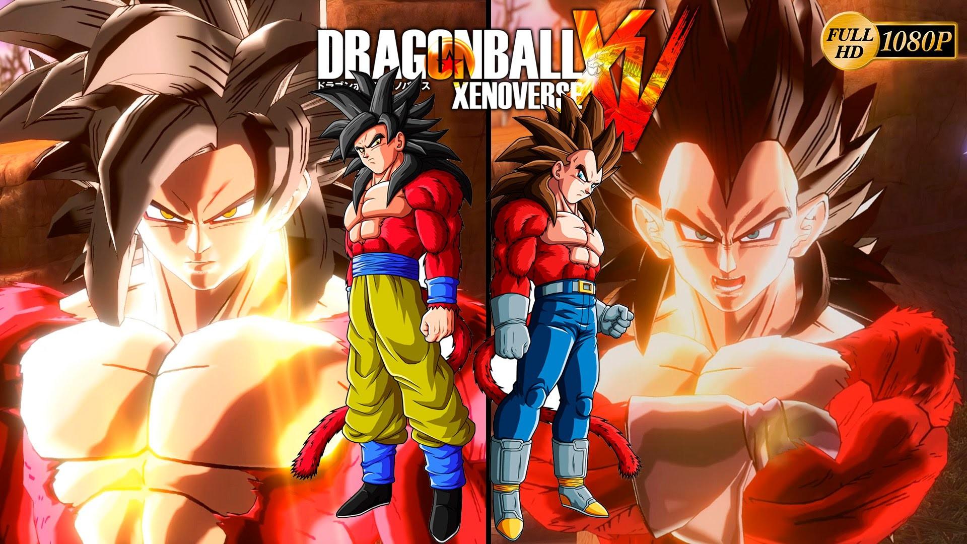 Dragon Ball Xenoverse – Super Saiyan 4 Vegeta ssj4 vs Super Saiyan Goku  ssj4 Dragon Ball GT – YouTube