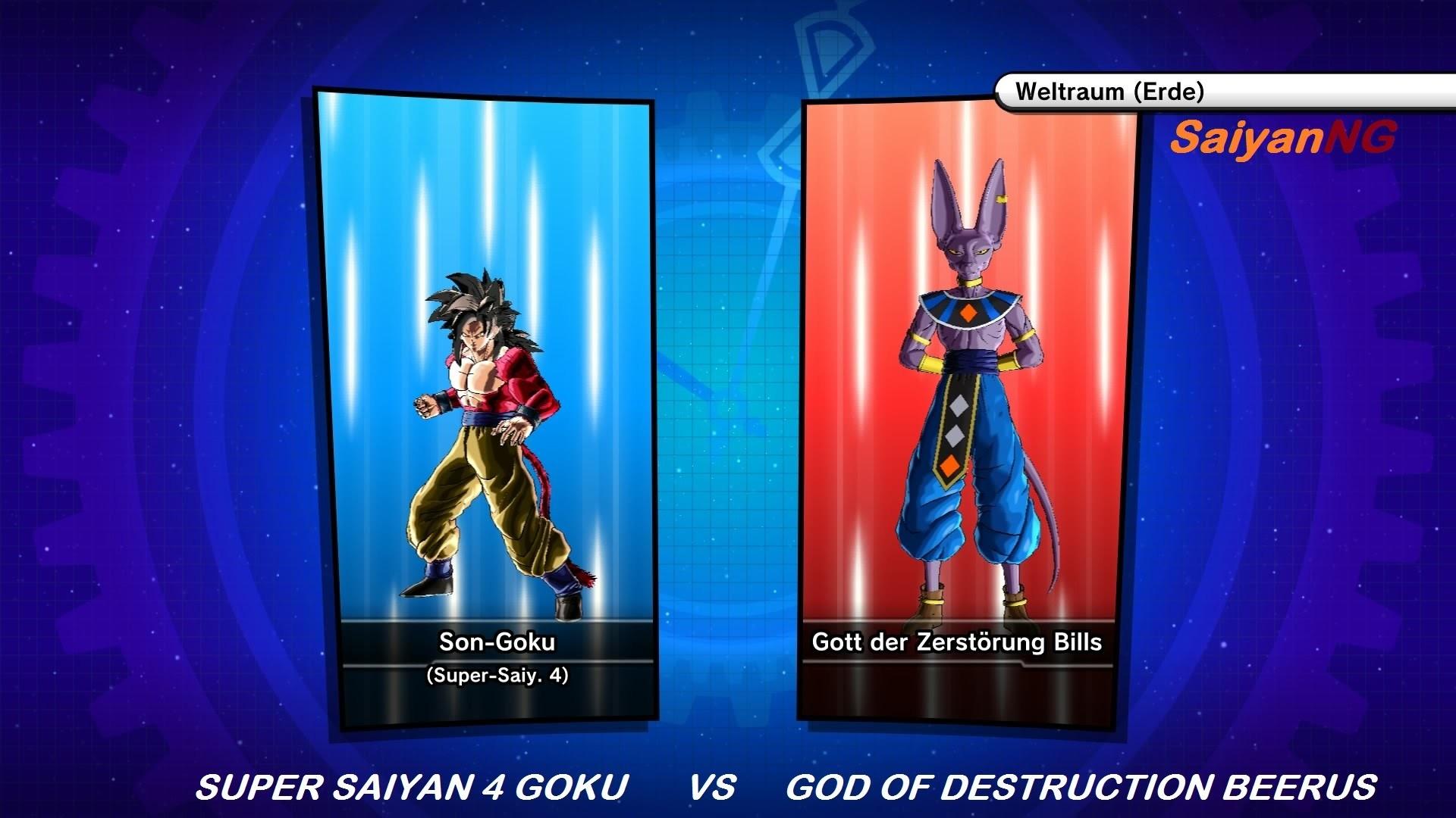 Dragon Ball Xenoverse: Super Saiyan 4 Goku vs God of Destruction Beerus  (German/Deutsch)