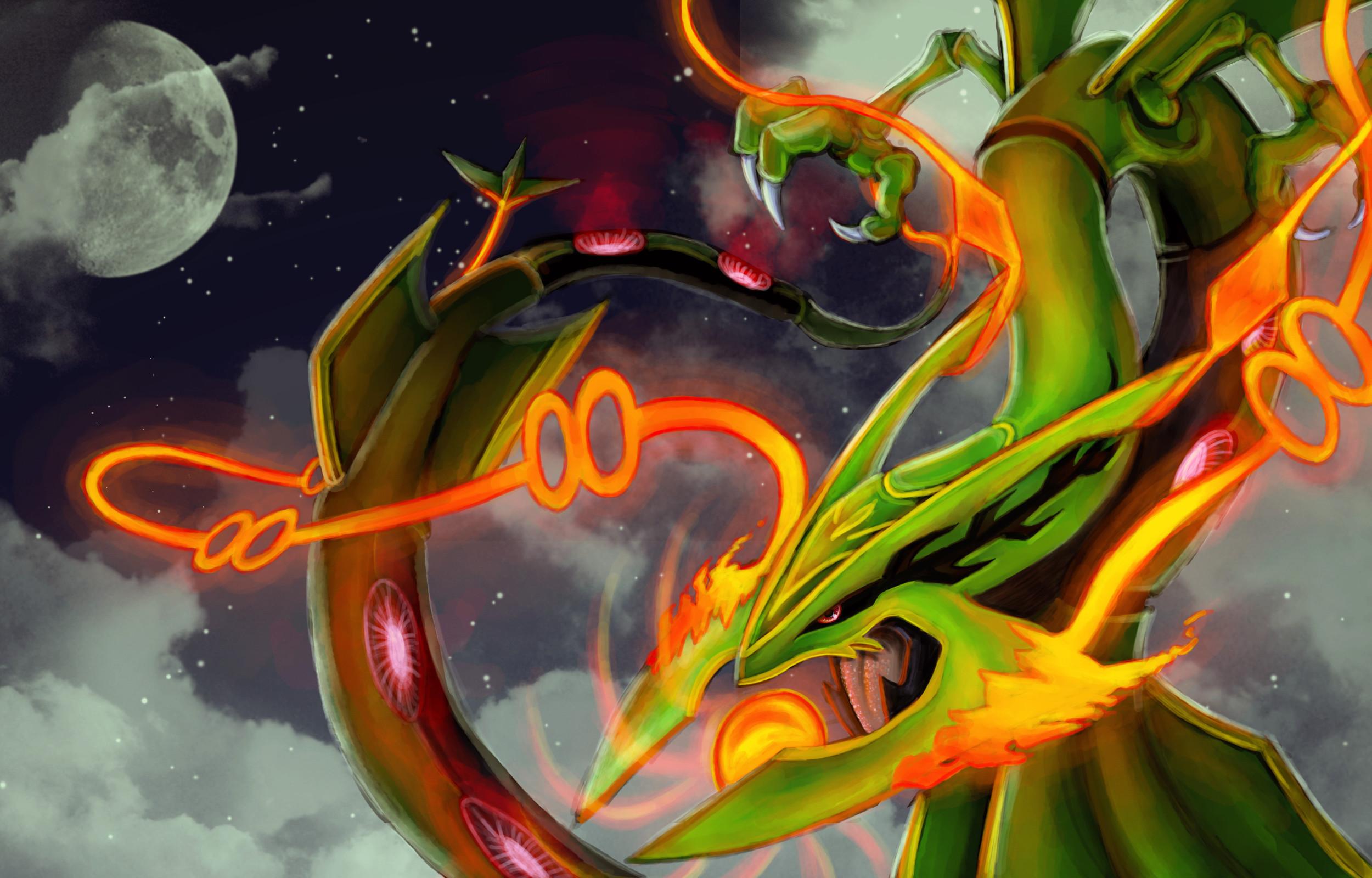 Tags: Anime, Chenks-r, Pokémon, Rayquaza, Mega Form (Pokémon