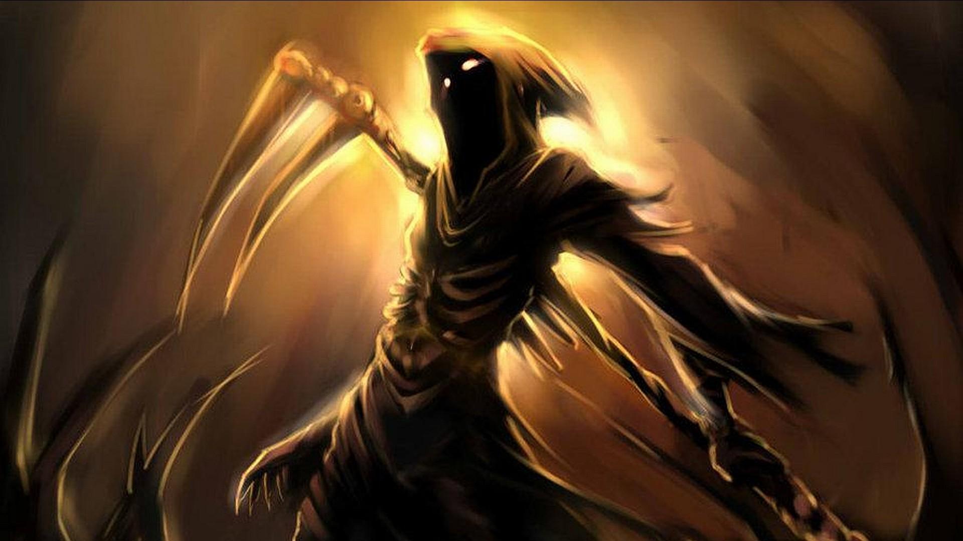 Dark Grim Reaper Horror Skeletons Skull Creepy F Wallpaper At Dark  Wallpapers