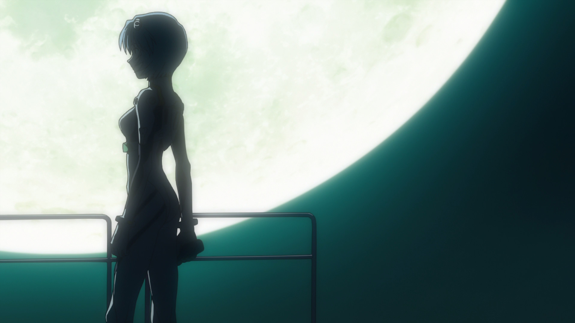 Anime Ayanami Rei Neon Genesis Evangelion silhouette