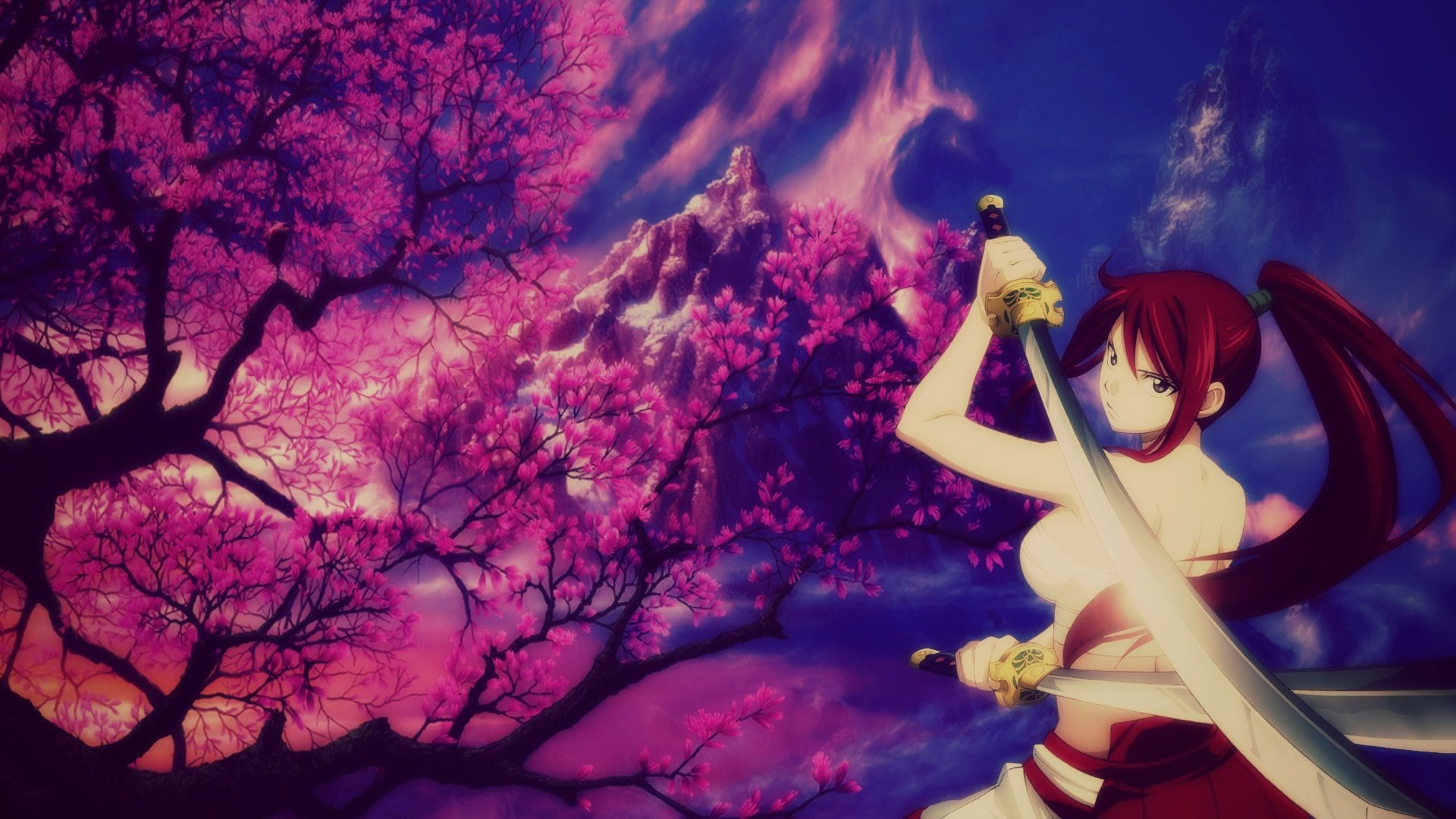 Anime – Fairy Tail Erza Scarlet Sword Girl Anime Wallpaper