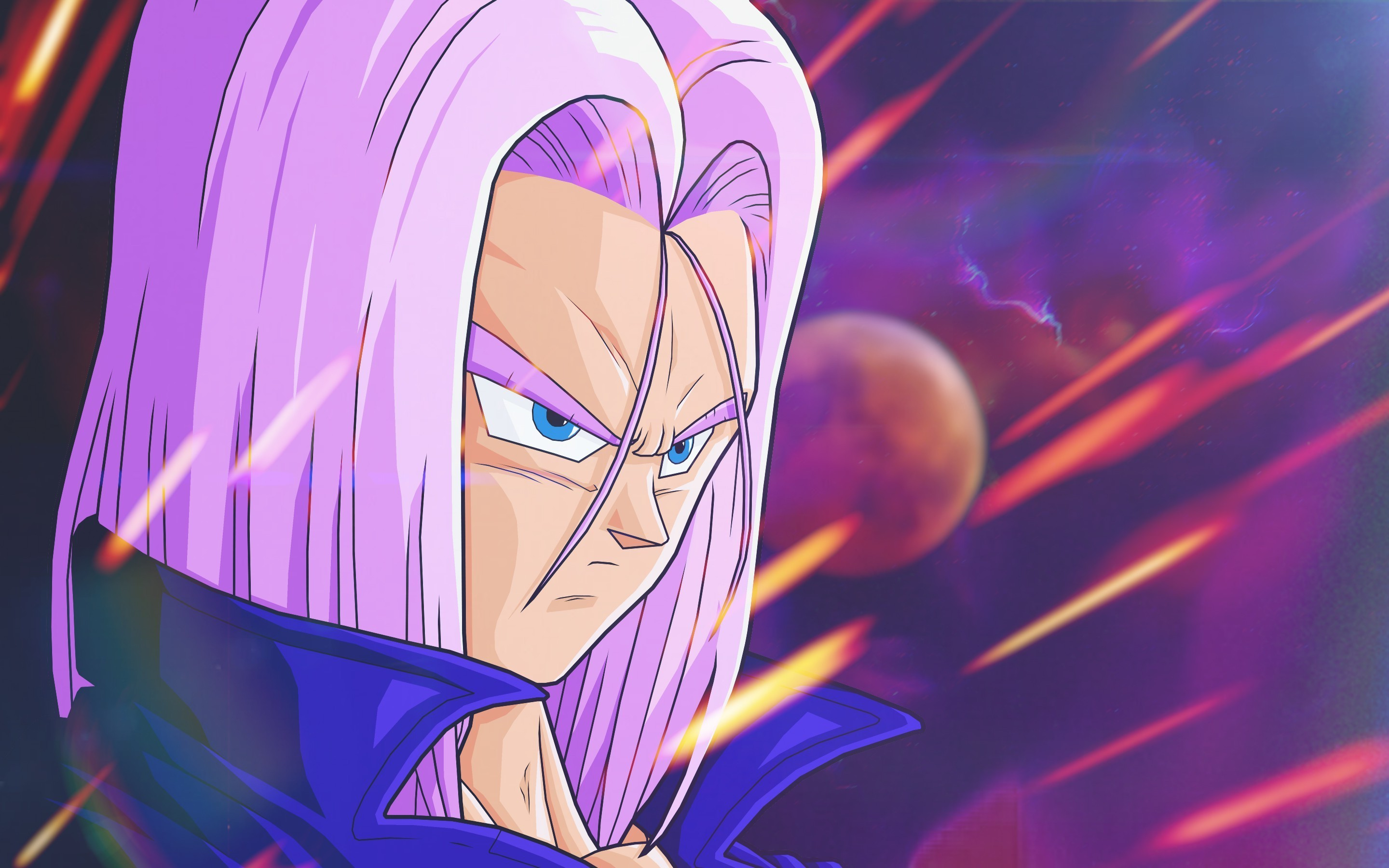 Dragon Ball, Dragon Ball Z, Trunks (character), Violets, Space, Anime  Wallpapers HD / Desktop and Mobile Backgrounds