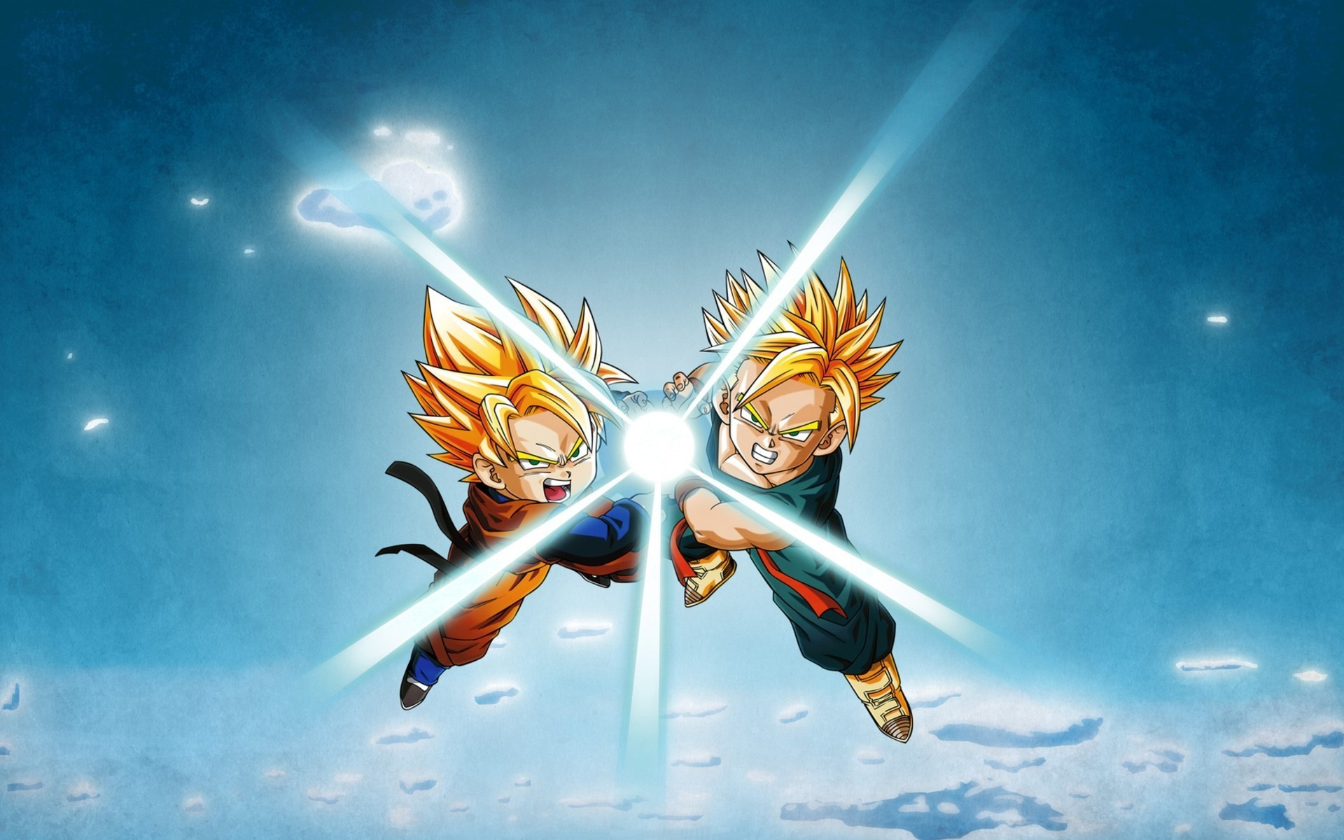Dragon Ball, Super Saiyan, Trunks (character), Son Goten, Kamehameha  Wallpapers HD / Desktop and Mobile Backgrounds