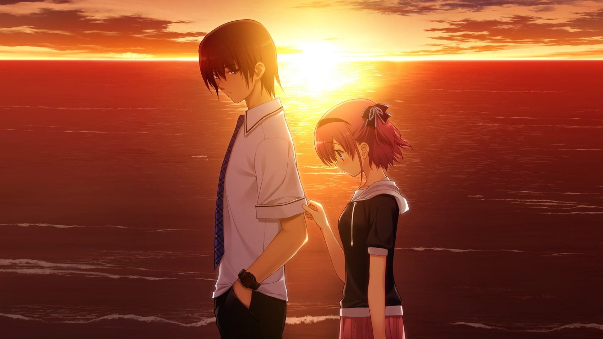 Sad Anime Couple Wallpaper HD