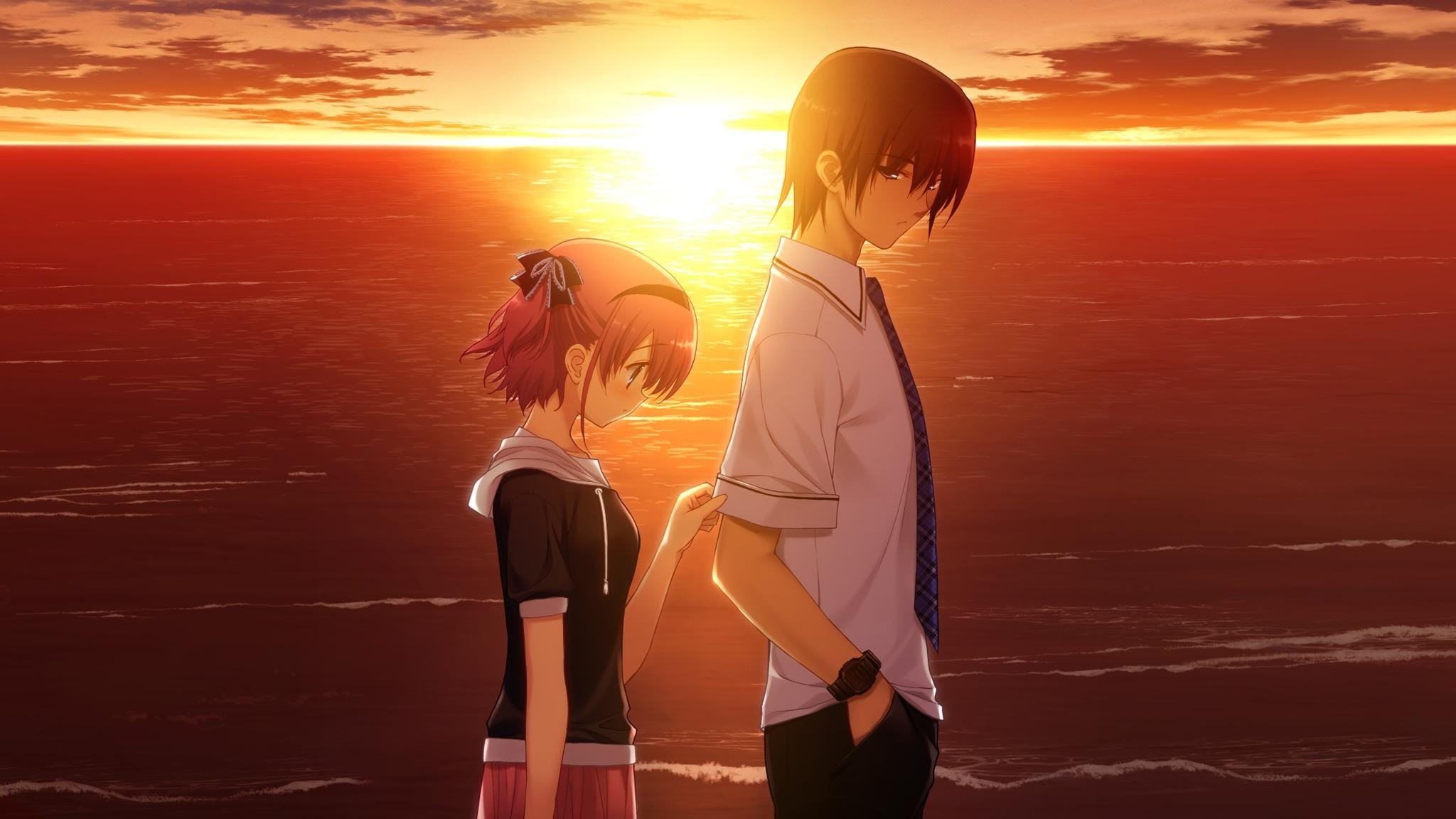 Sad Anime Couple