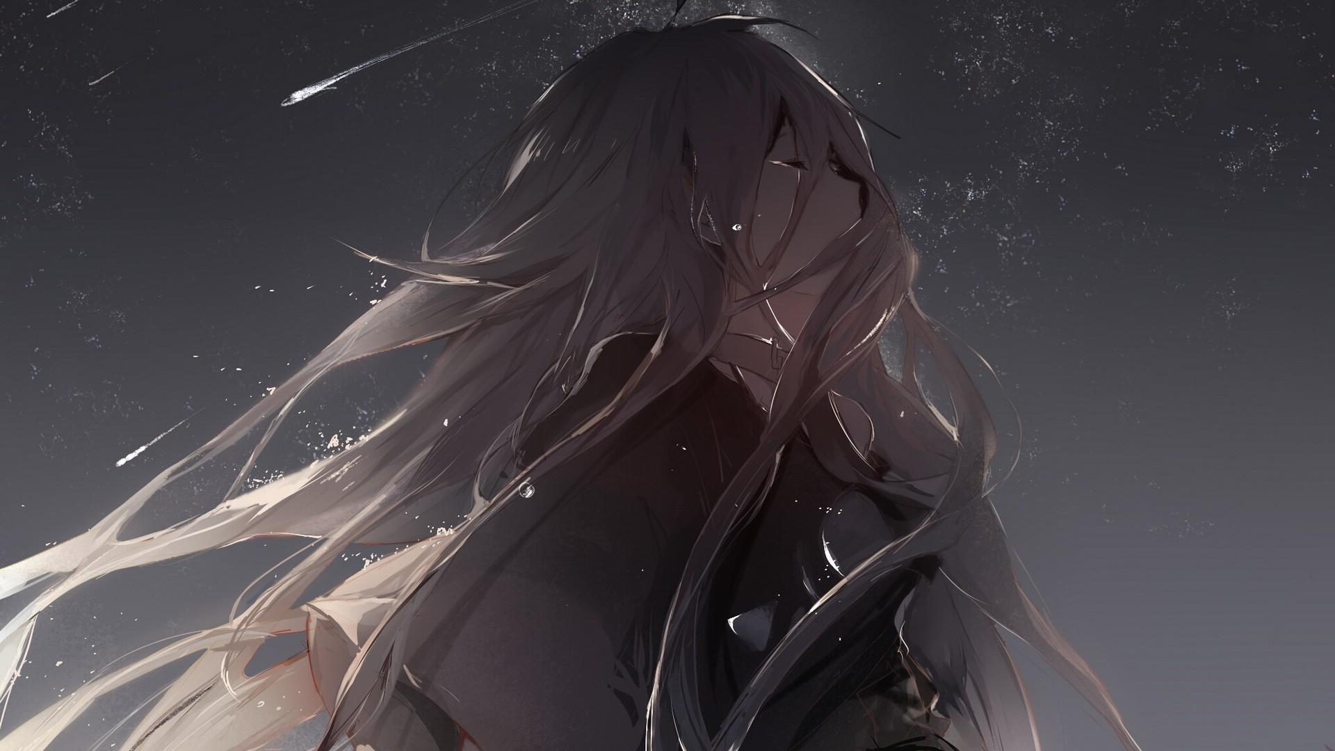 """Crying girl wallpaper, we all cry! W<img draggable=""""false"""" · Anime Girl  CryingSad …"""